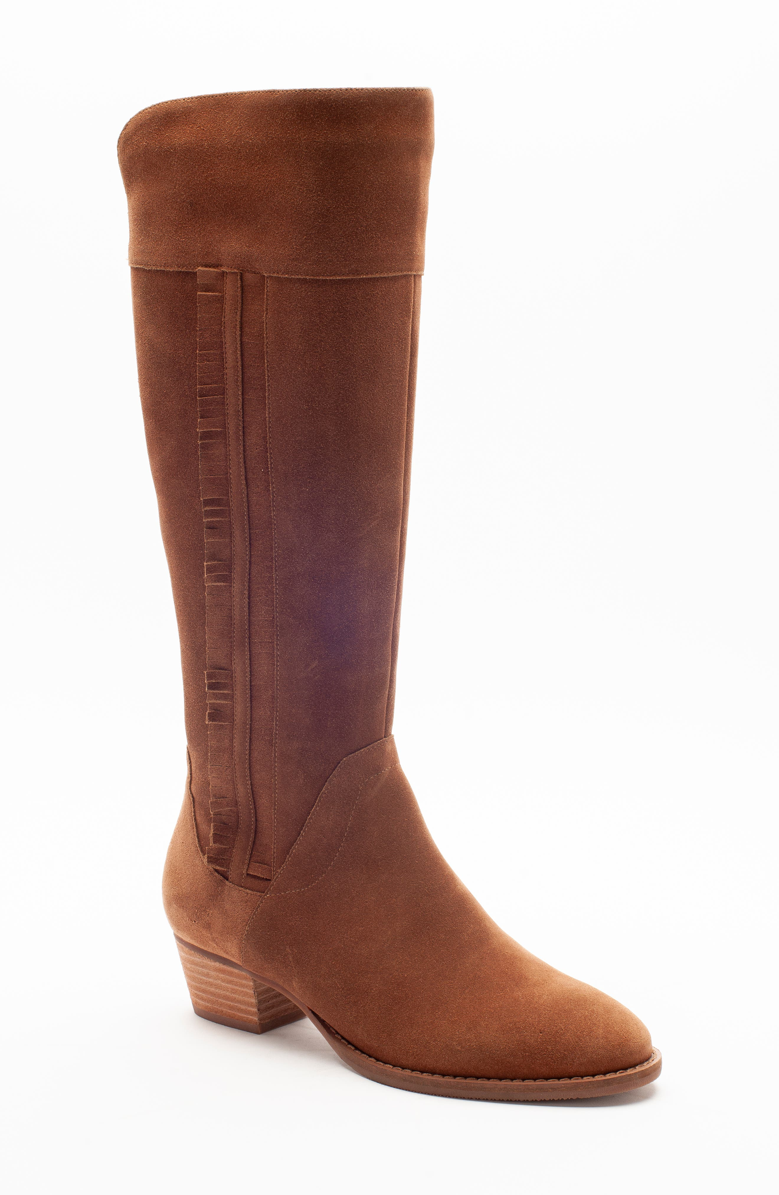 Nestle Waterproof Knee High Boot,                         Main,                         color, CHESTNUT SUEDE