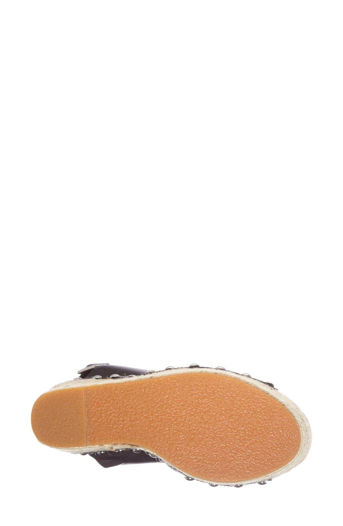 STEVE MADDEN,                             'Jummbo' Espadrille Wedge Sandal,                             Alternate thumbnail 2, color,                             001