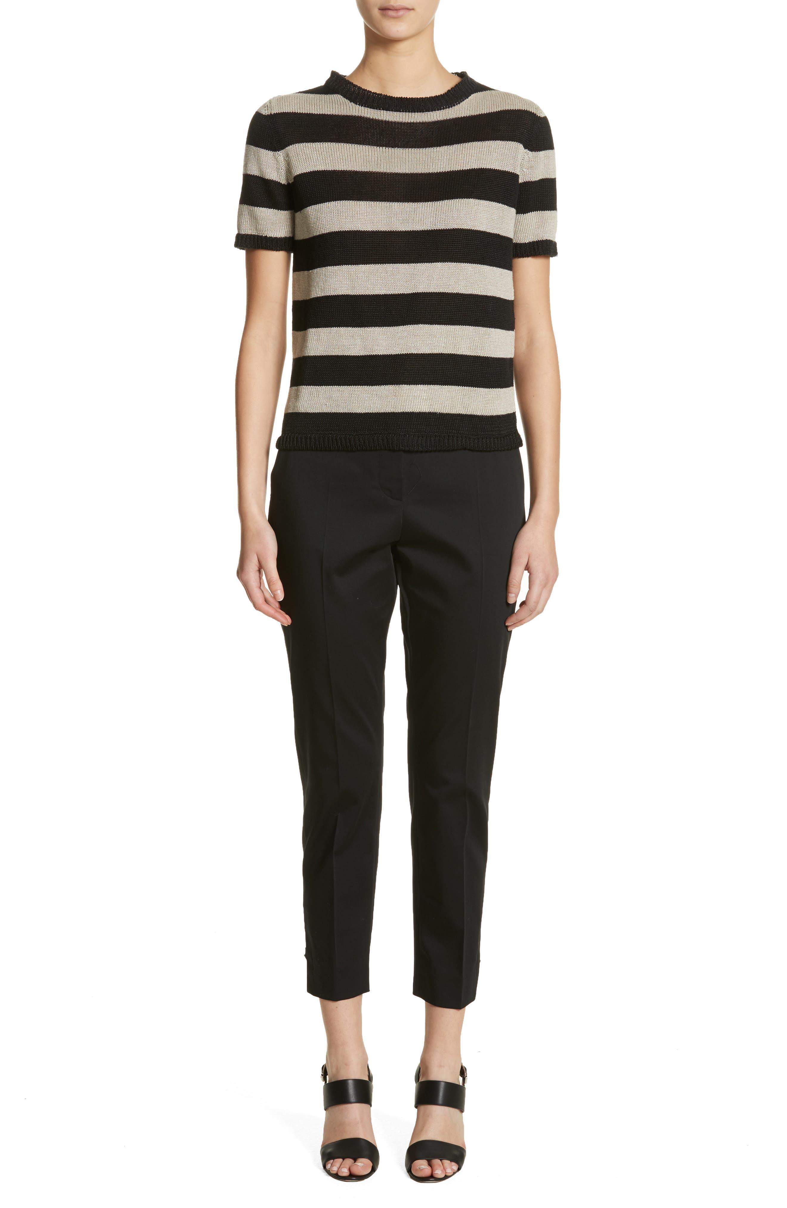 Filly Stripe Linen Sweater,                             Alternate thumbnail 7, color,                             256
