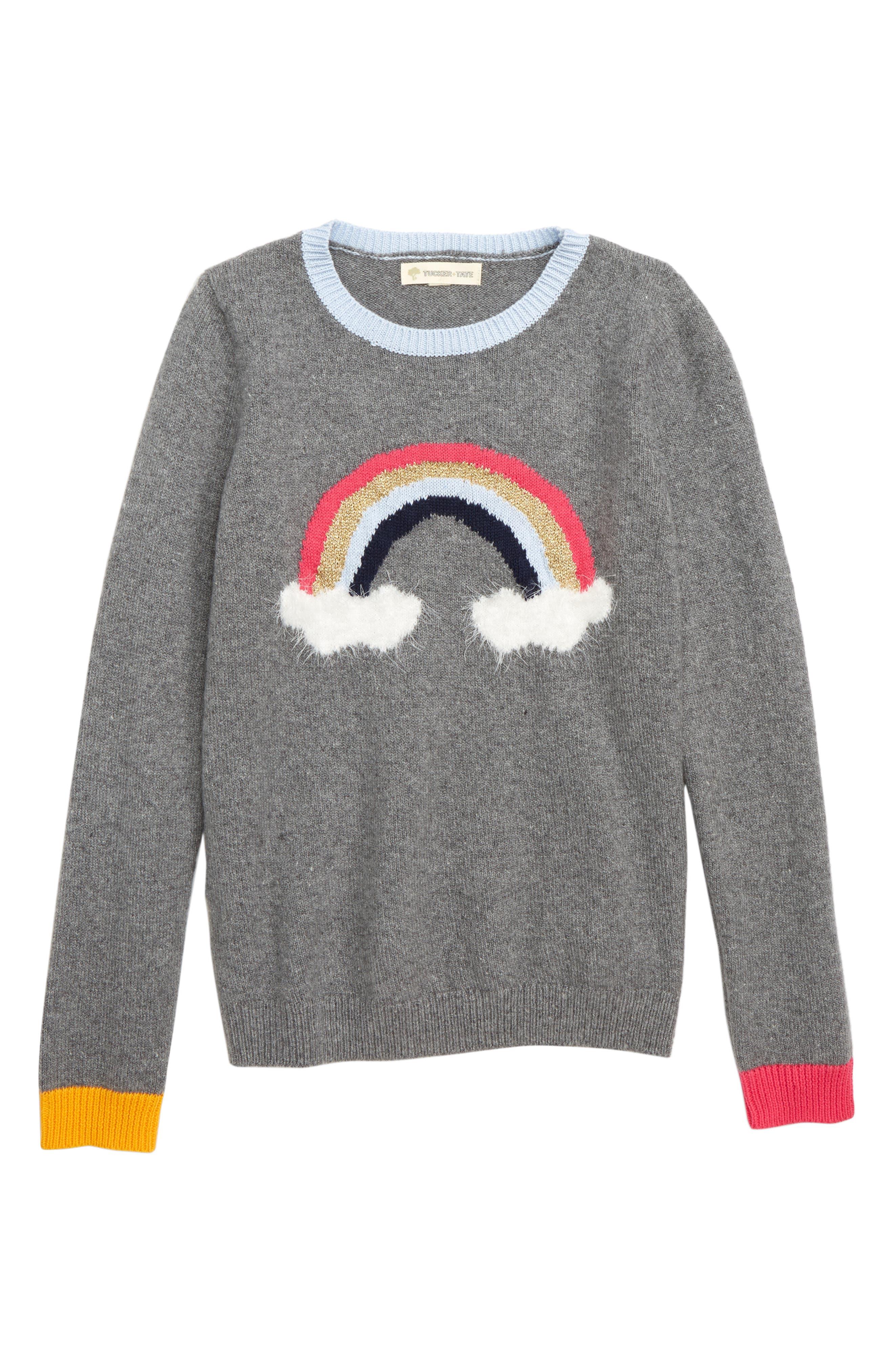 Rainbow Icon Sweater, Main, color, 030