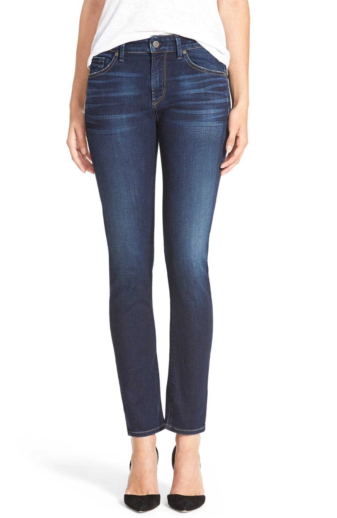 'Arielle' Mid Rise Slim Jeans,                         Main,                         color, 463