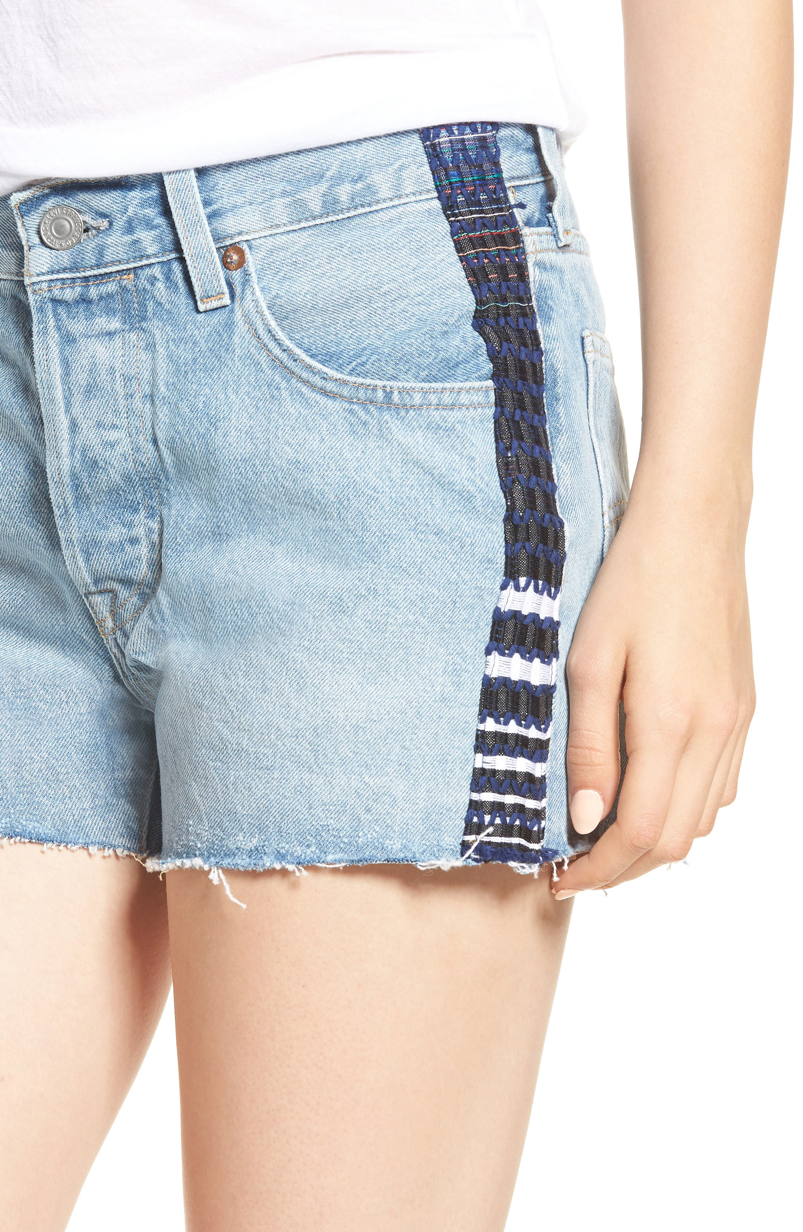 Made & Crafted<sup>™</sup> 501<sup>®</sup> Embroidered Cutoff Denim Shorts,                             Alternate thumbnail 4, color,                             LMC SKIPPER