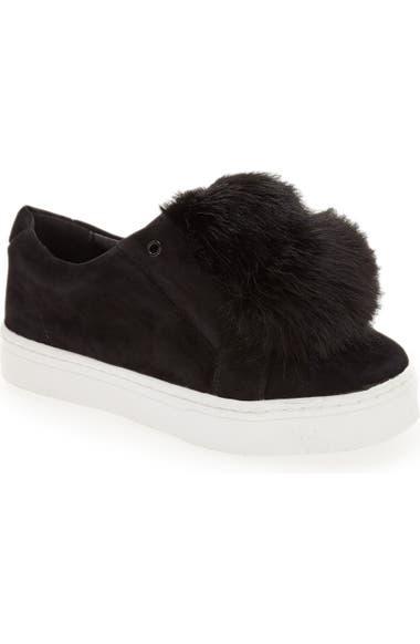 566763ee628e22 Sam Edelman  Leya  Faux Fur Laceless Sneaker (Women)