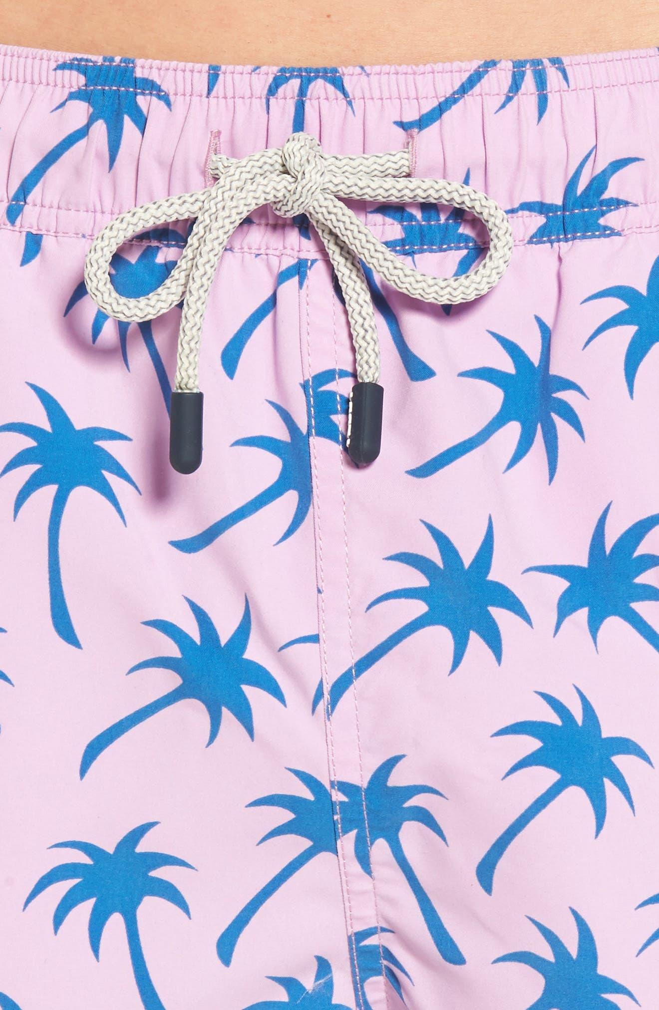 Palm Print Swim Trunks,                             Alternate thumbnail 4, color,                             439