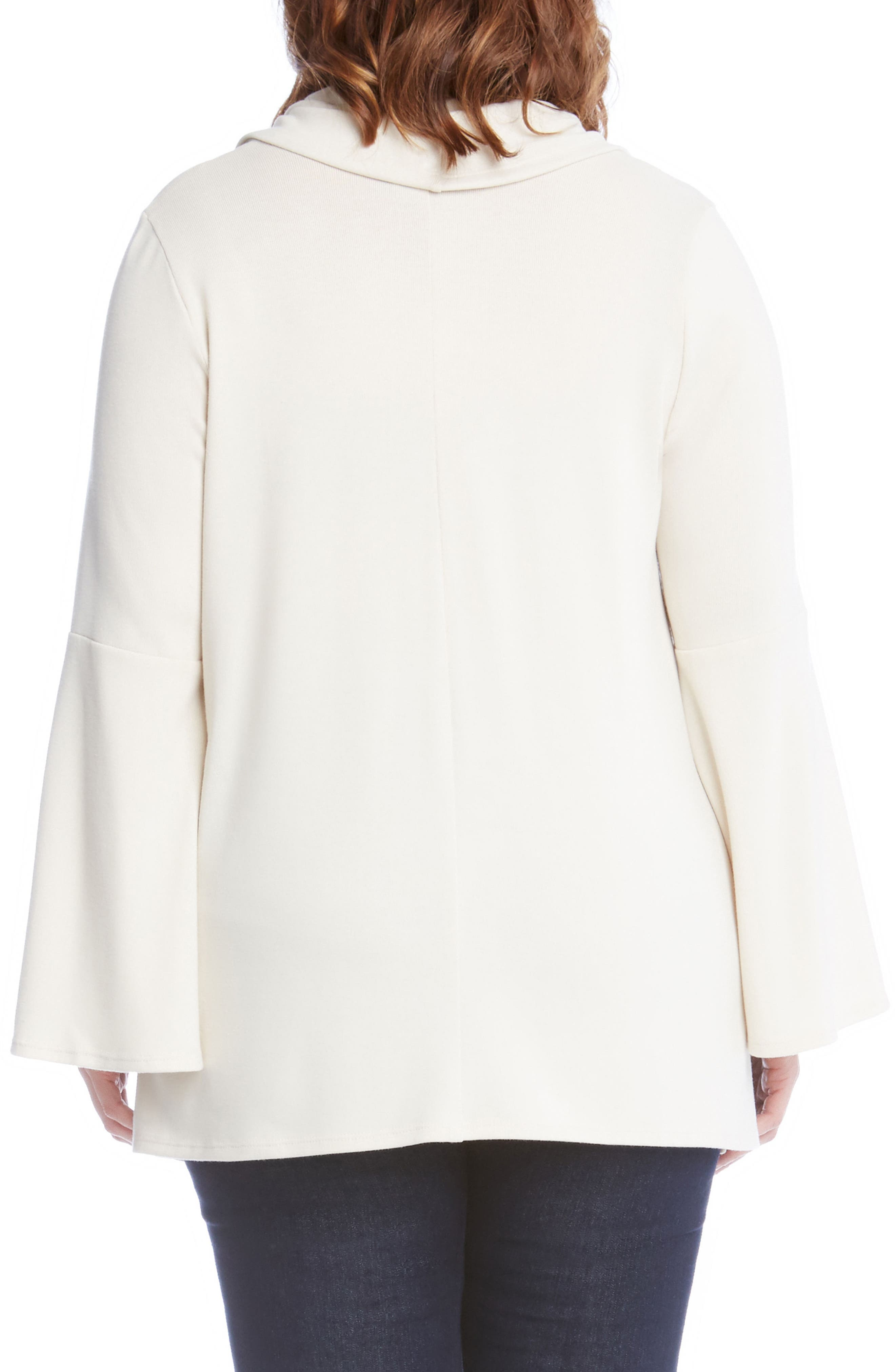 Flare Sleeve Cowl Neck Sweater,                             Alternate thumbnail 6, color,