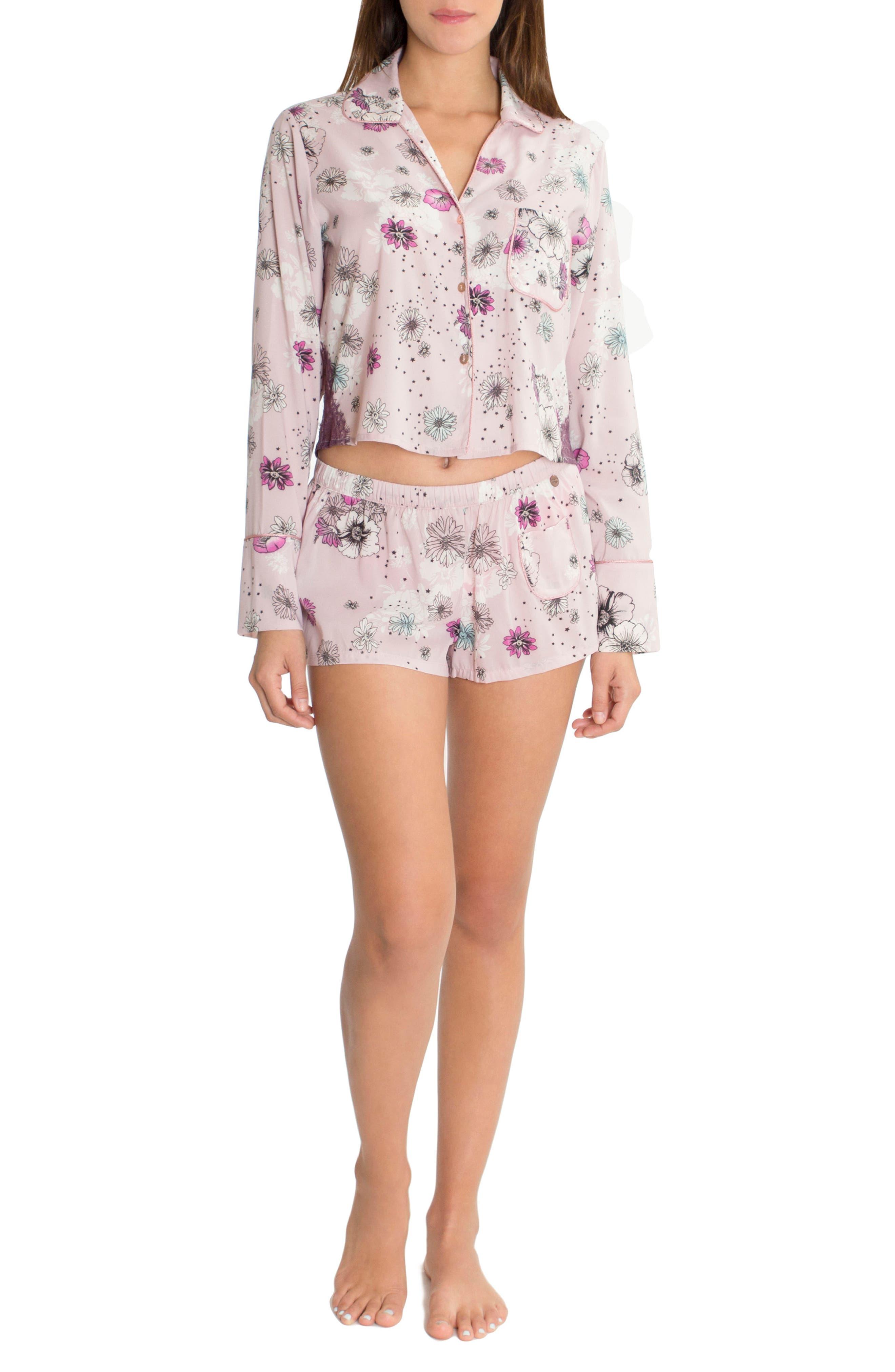 Crop Pajama Top,                             Alternate thumbnail 5, color,