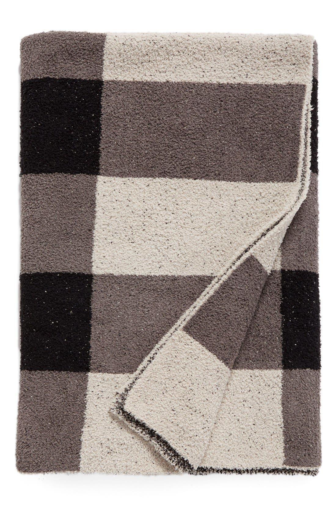 CozyChic<sup>®</sup> Plaid Throw Blanket,                             Main thumbnail 1, color,                             001