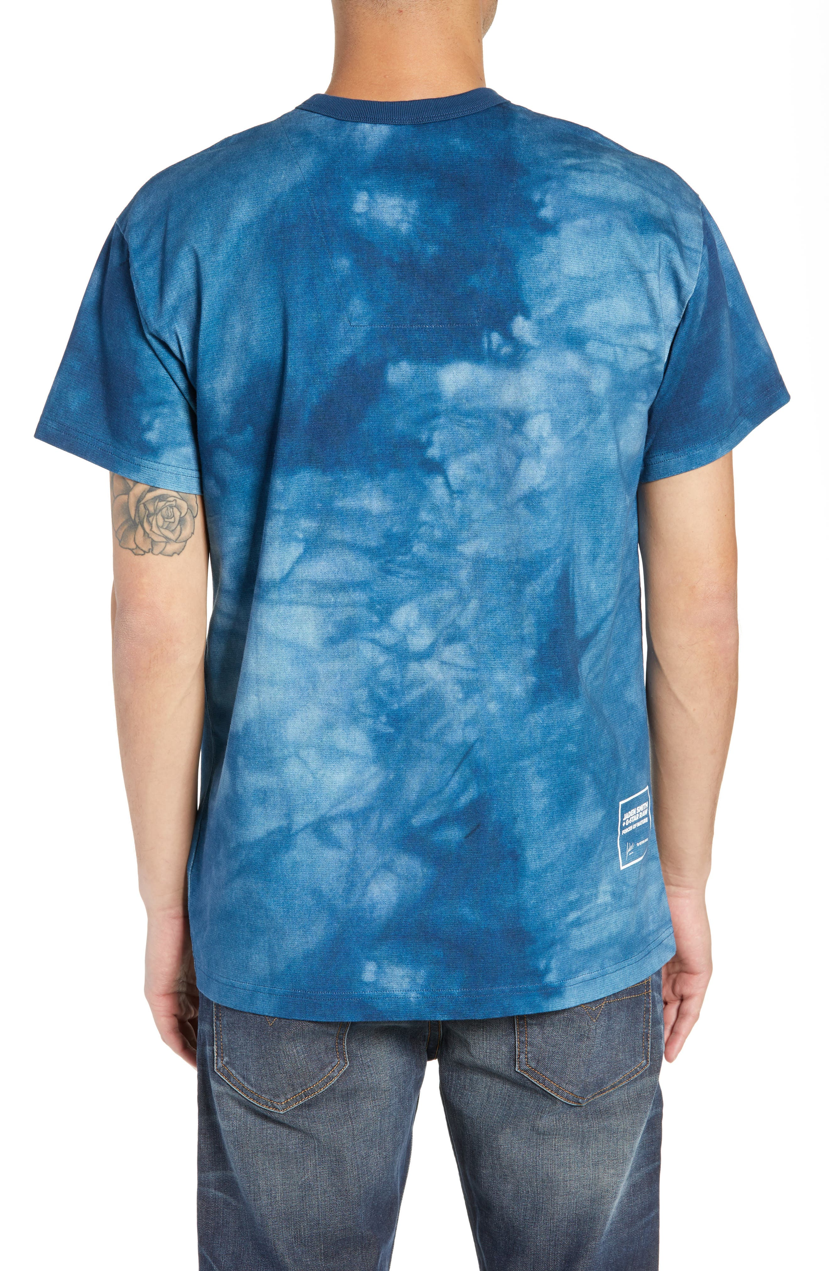 G-Star Cyrer Waterfall Loose T-Shirt,                             Alternate thumbnail 2, color,                             TEAL BLUE