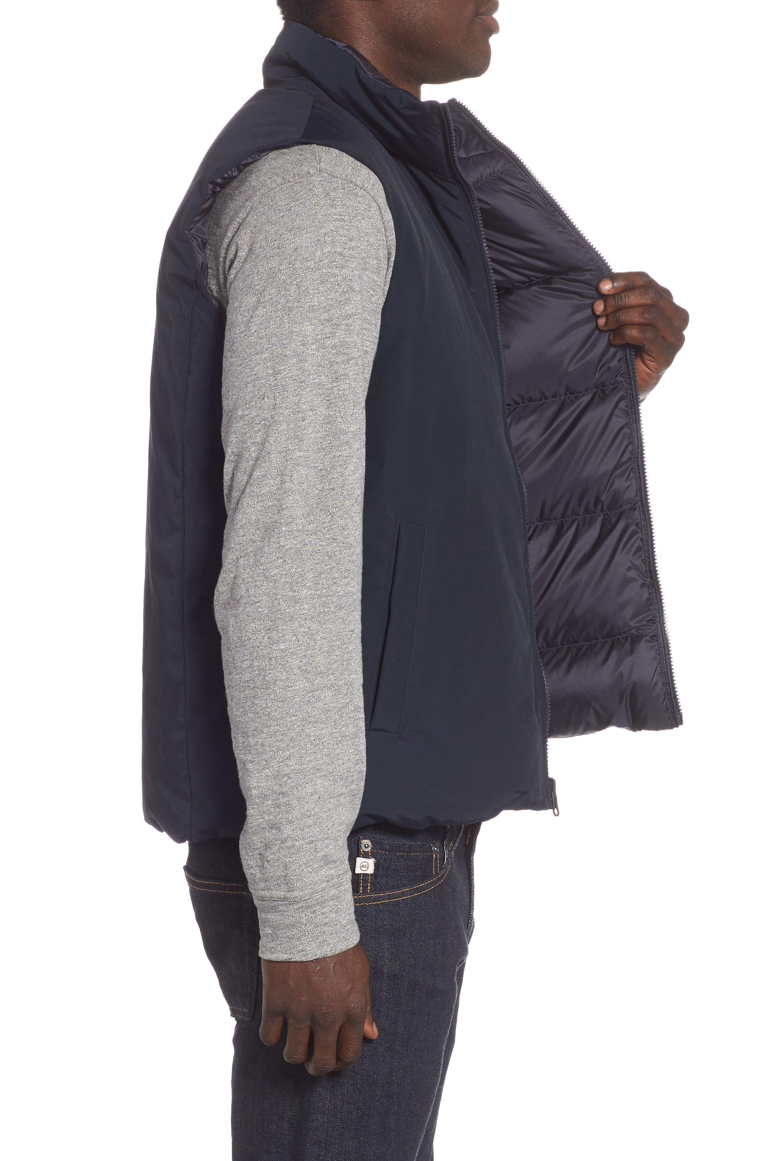 Reversible Down Regular Fit Vest,                             Alternate thumbnail 4, color,                             MELTON BLUE