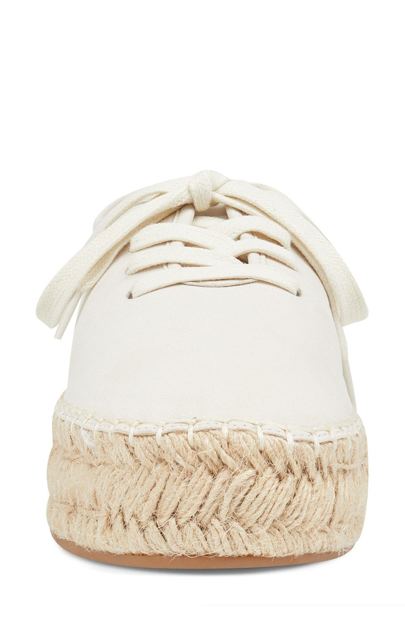 Gingerbread Espadrille Sneaker,                             Alternate thumbnail 4, color,                             OFF WHITE LEATHER