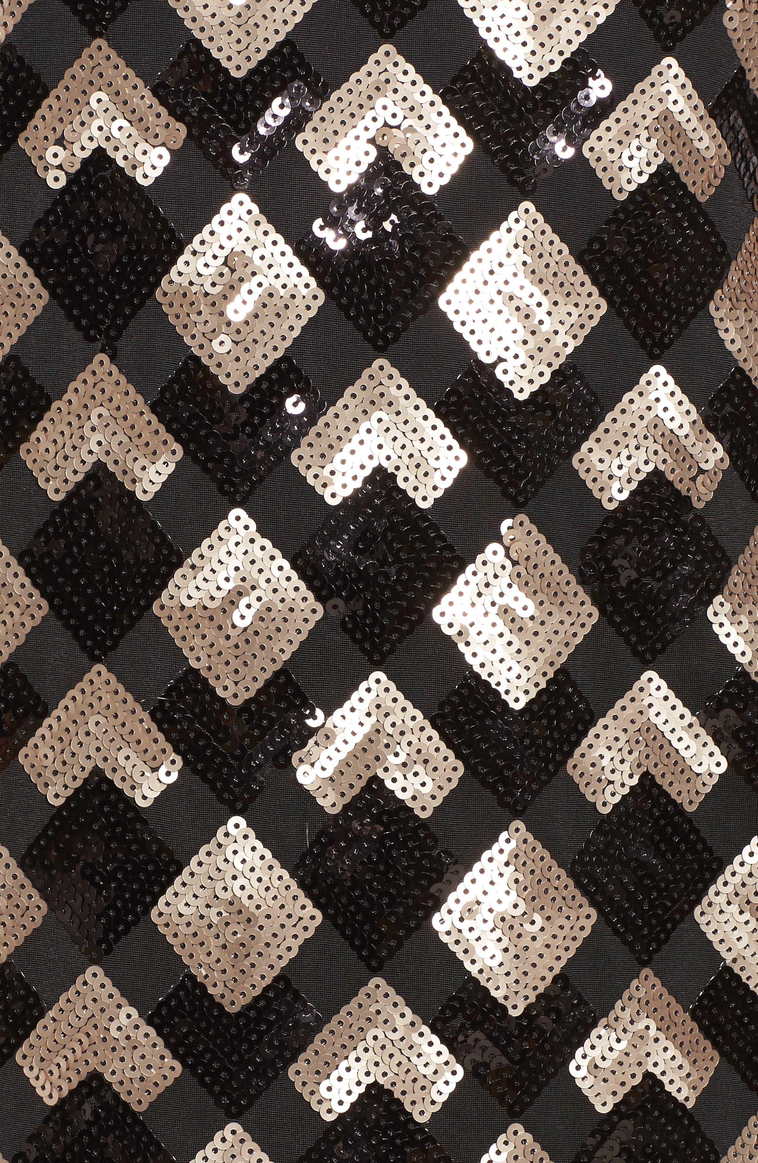 Sequin Sheath Dress,                             Alternate thumbnail 5, color,