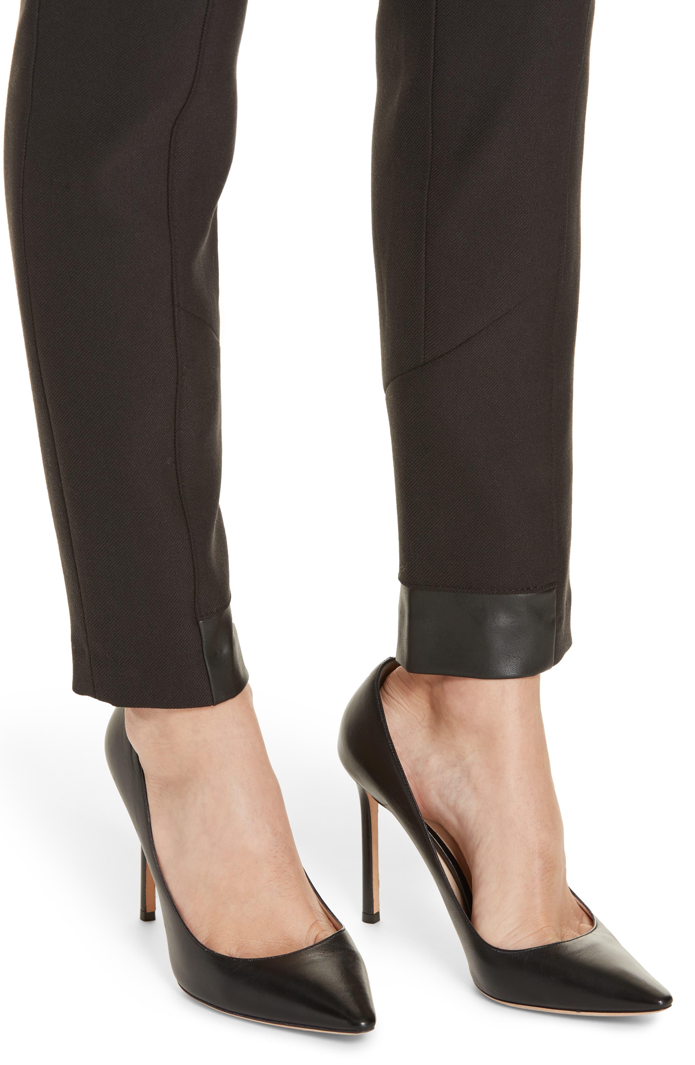 BOSS,                             Tileta Slim Leg Trousers,                             Alternate thumbnail 4, color,                             001