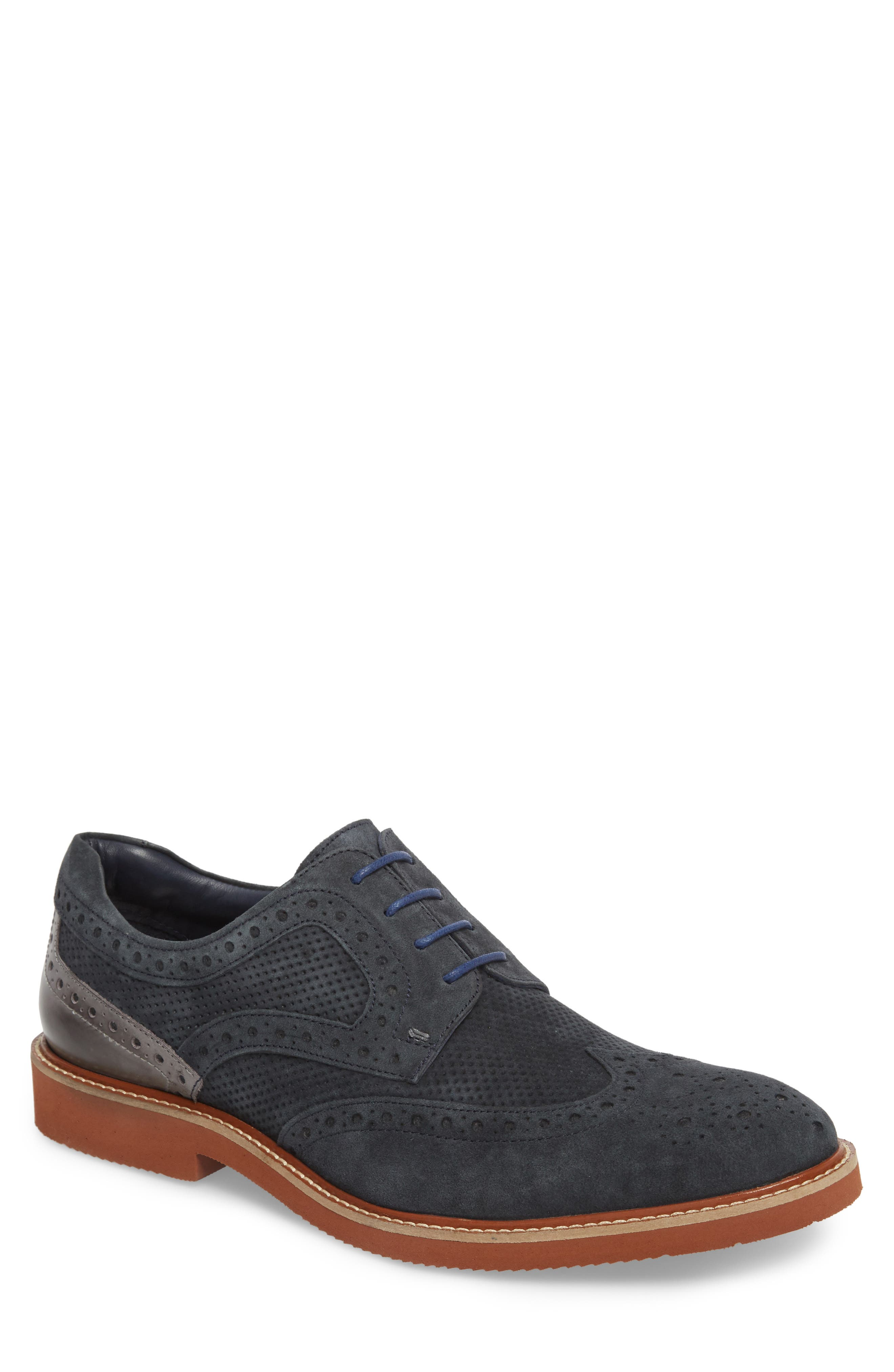 Shaw Perforated Wingtip Derby,                             Main thumbnail 2, color,