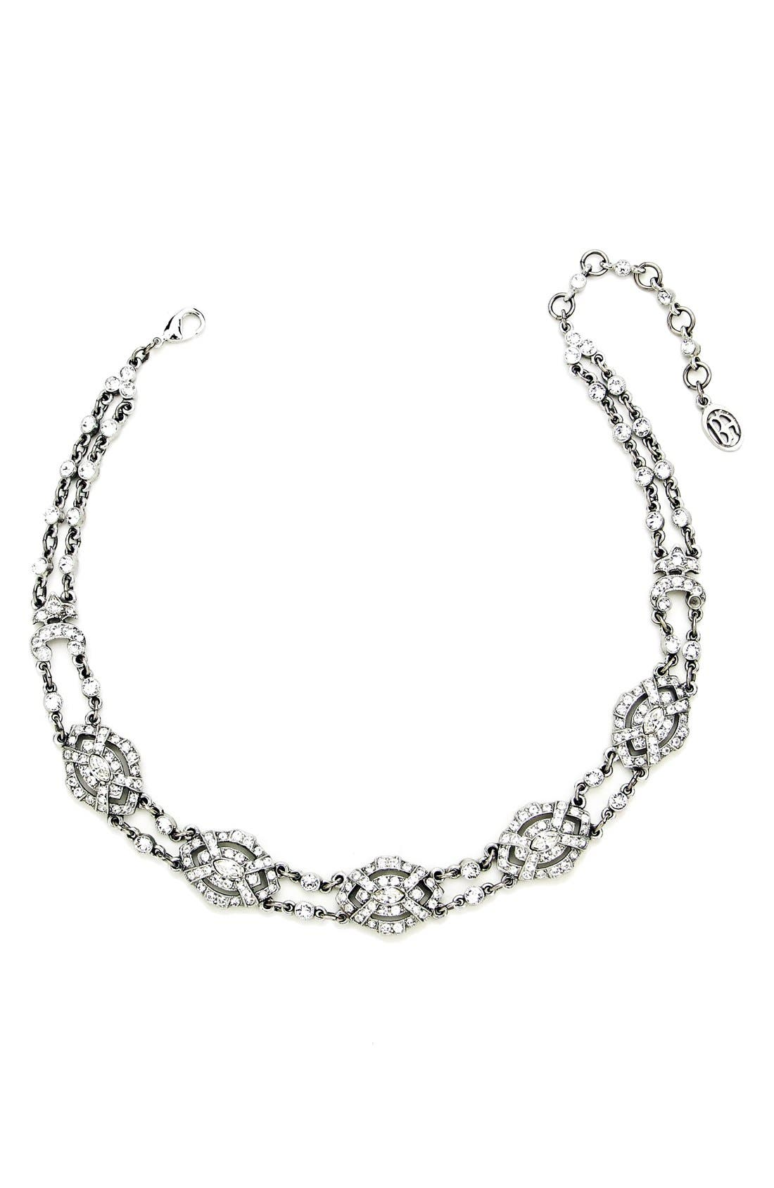 'Deco' Crystal Choker,                             Main thumbnail 1, color,                             040