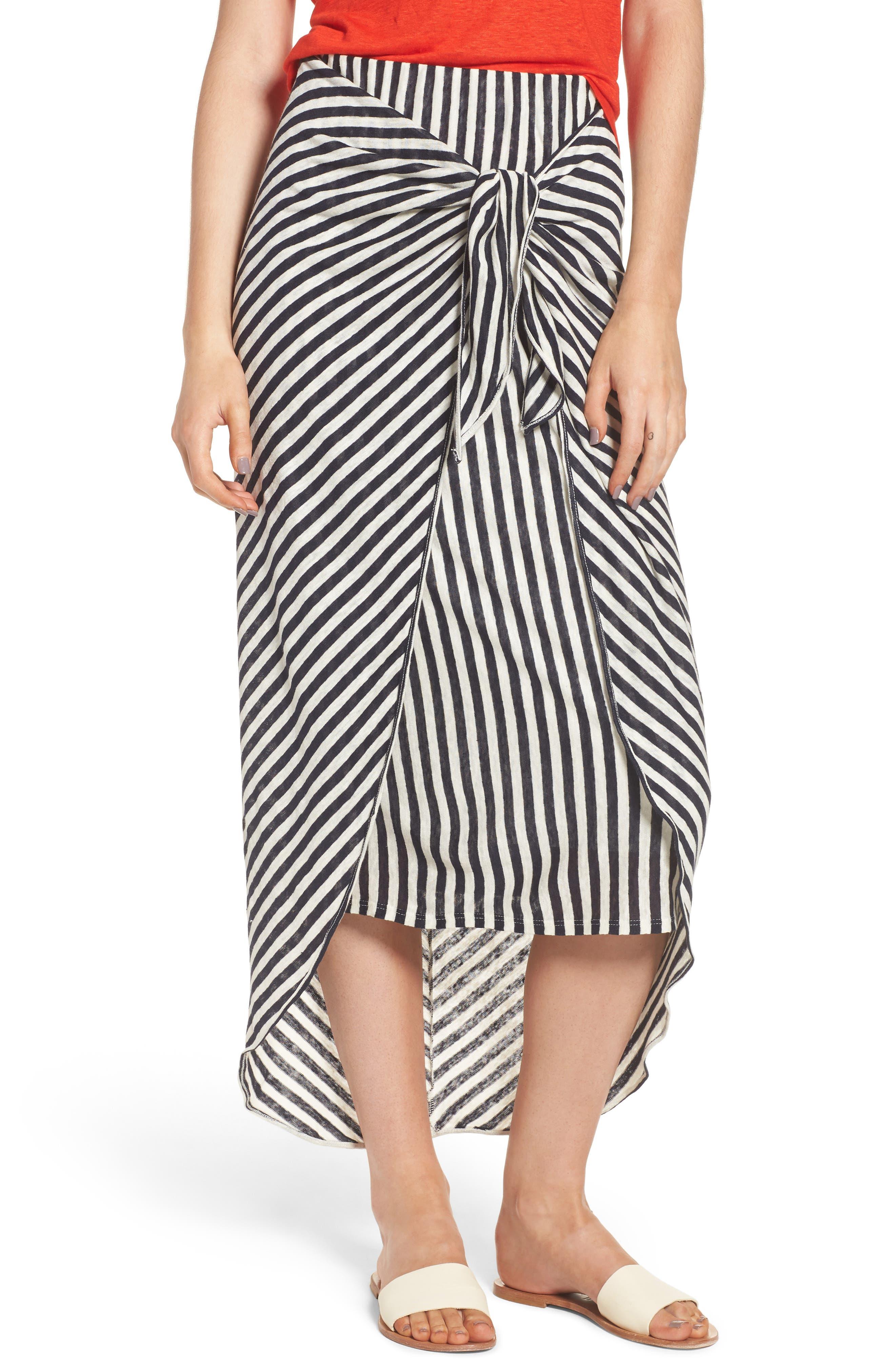 x Margherita Isola Stripe Sarong Skirt,                             Main thumbnail 1, color,                             461