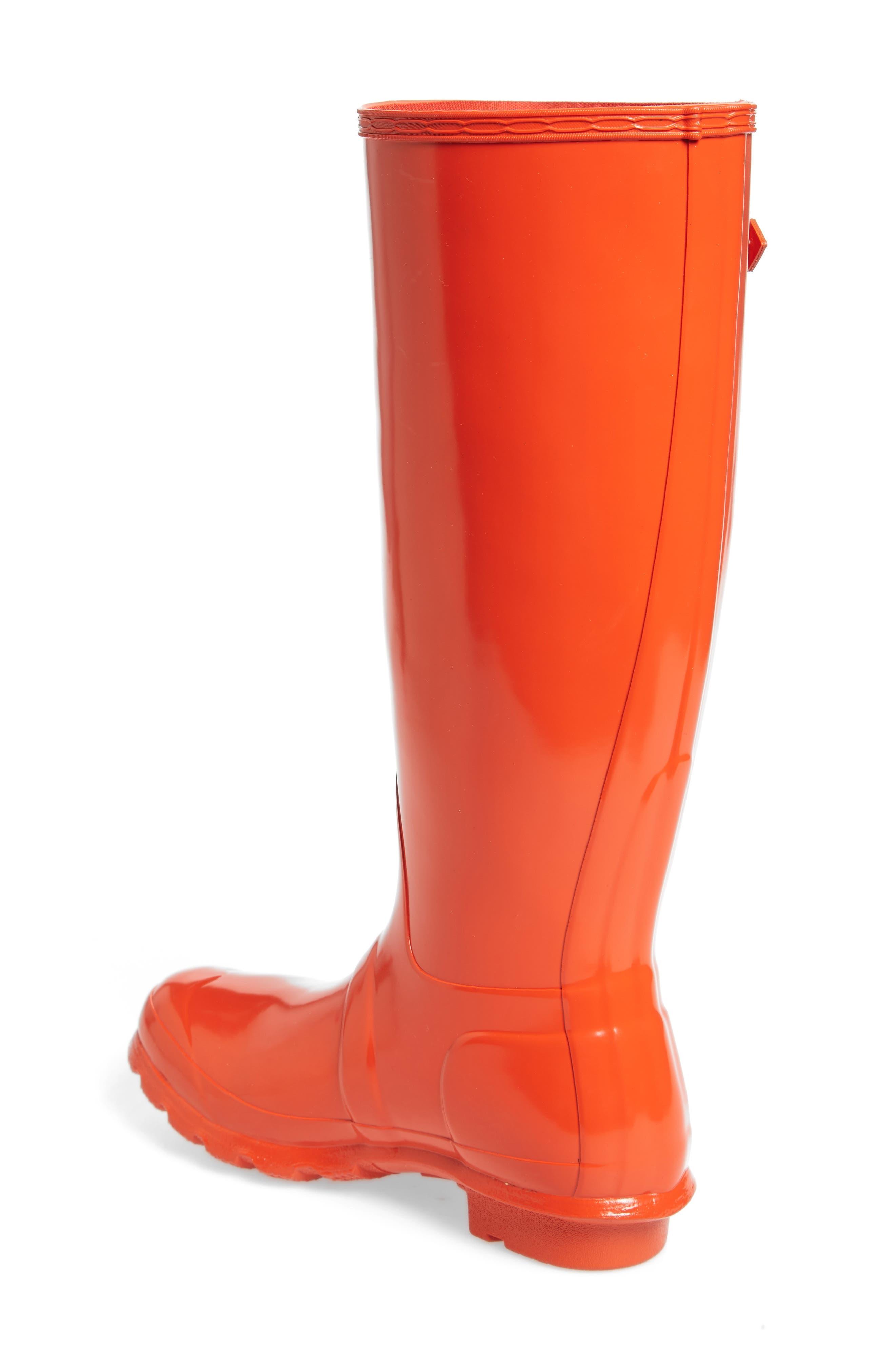Original High Gloss Boot,                             Alternate thumbnail 3, color,                             ORANGE