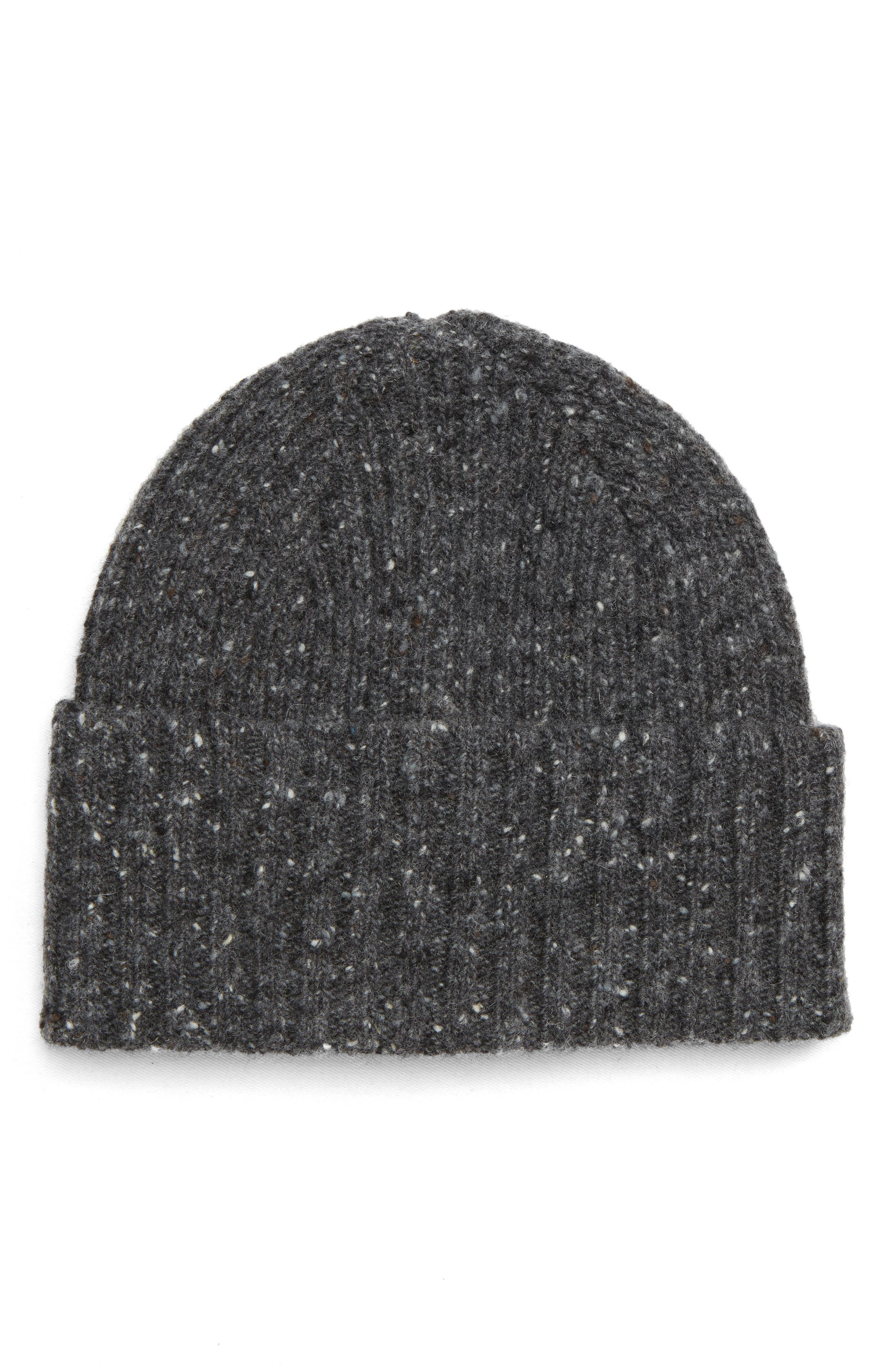 Drakes Donegal Wool Beanie,                         Main,                         color, GREY