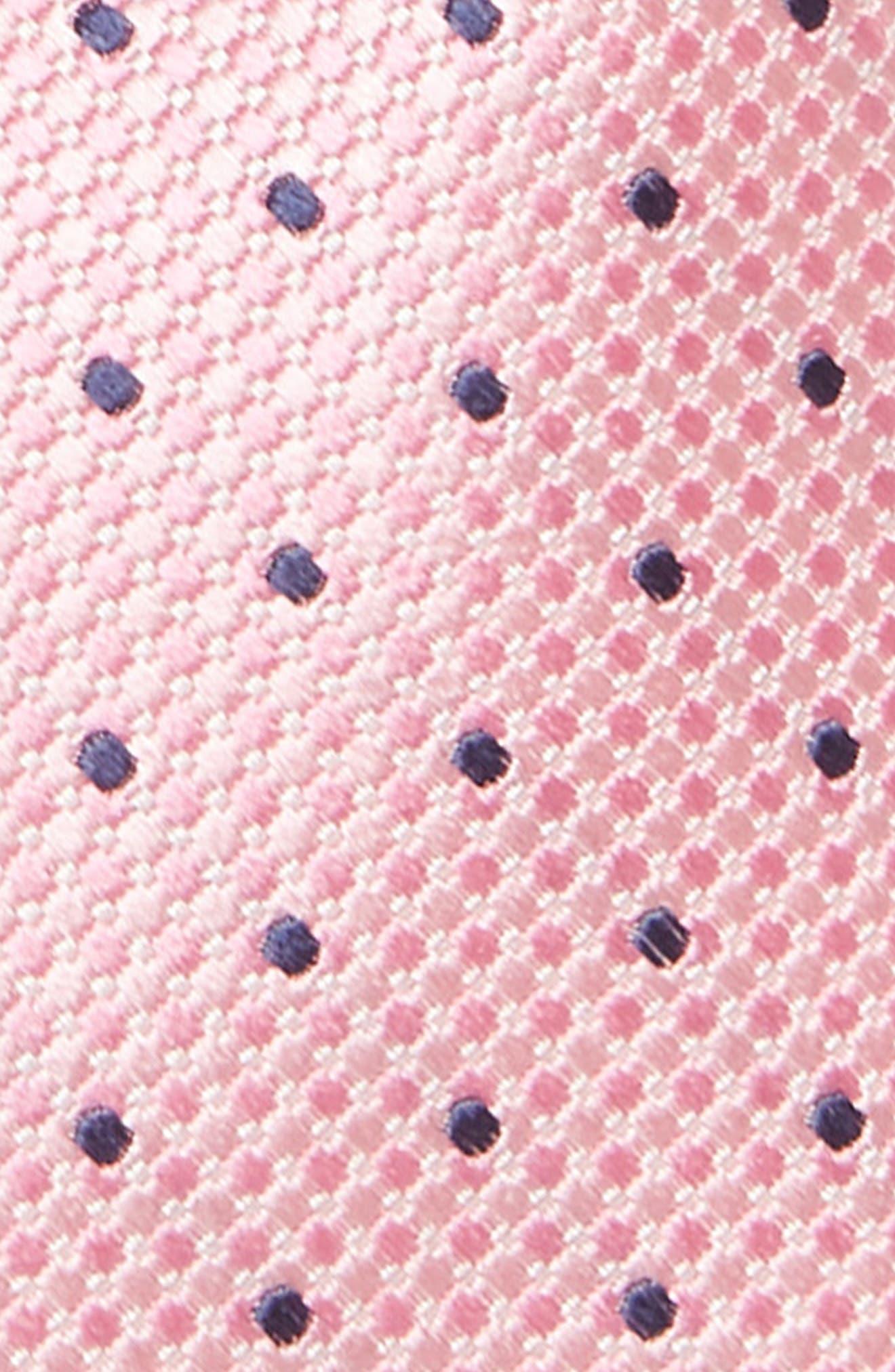 Dot Silk Tie,                             Alternate thumbnail 2, color,                             PINK