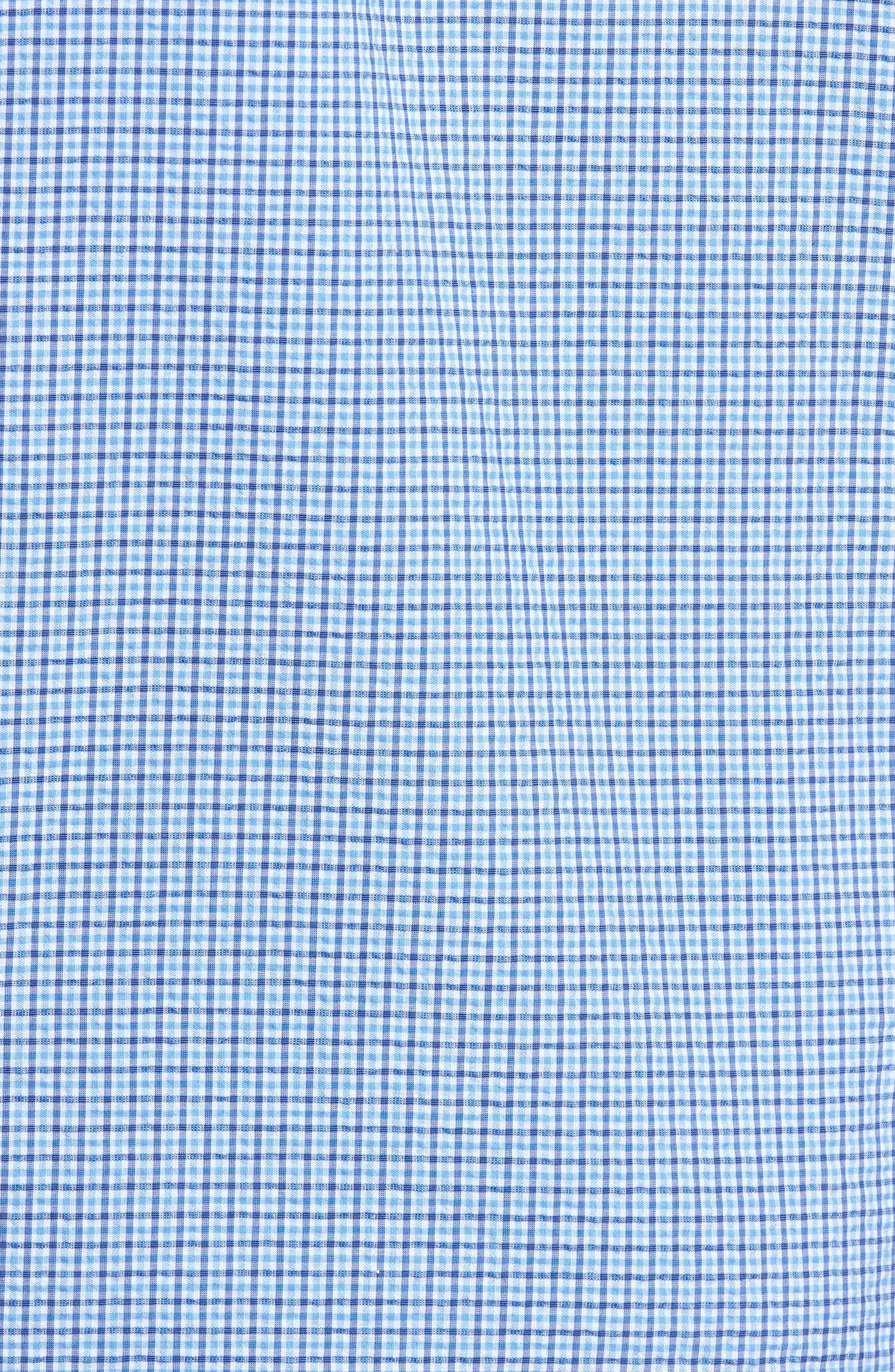 Billy Trim Fit Plaid Sport Shirt,                             Alternate thumbnail 5, color,                             422