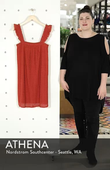 Assia Crochet Shift Dress, sales video thumbnail