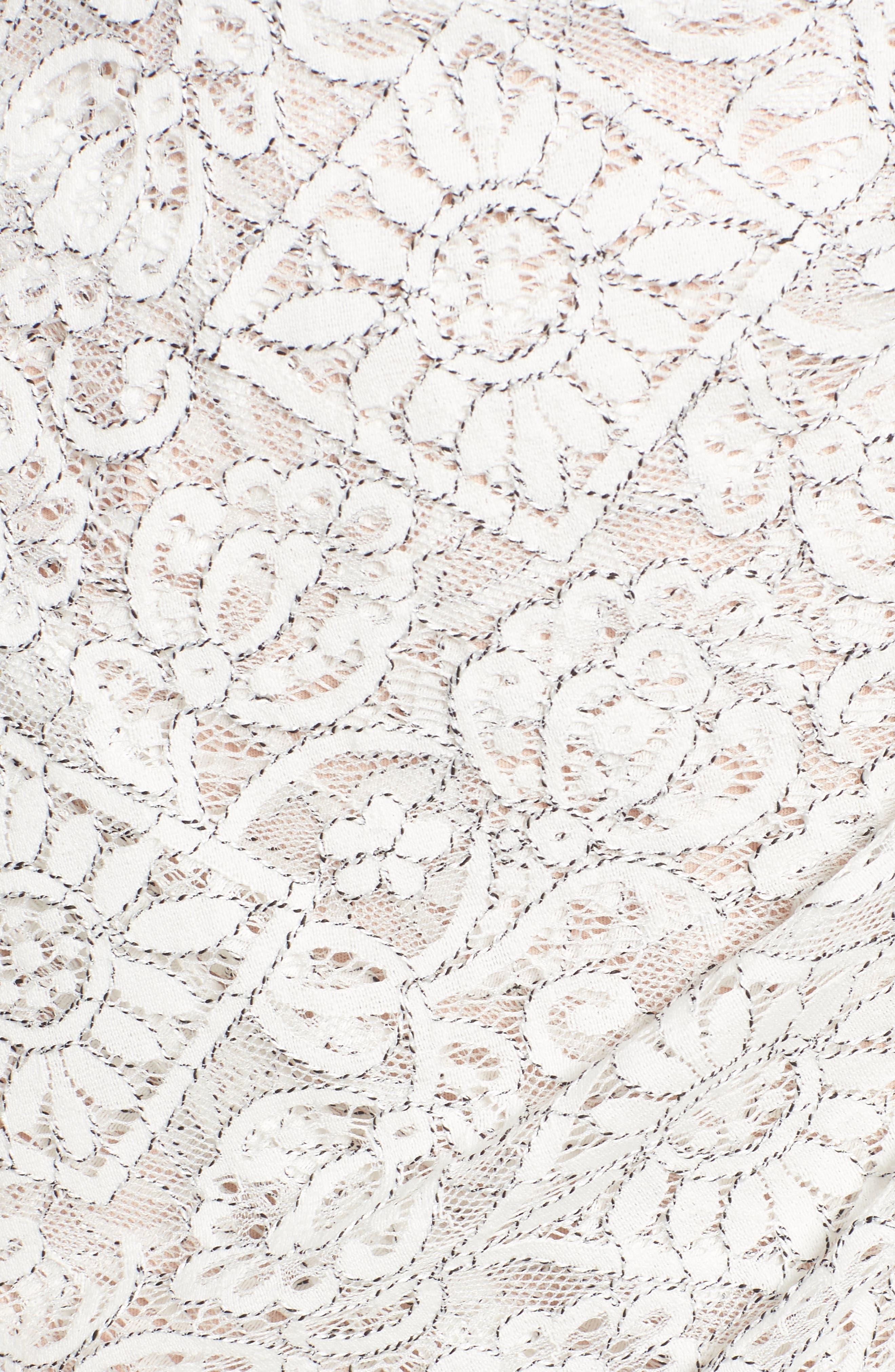 Lace Minidress,                             Alternate thumbnail 5, color,                             900