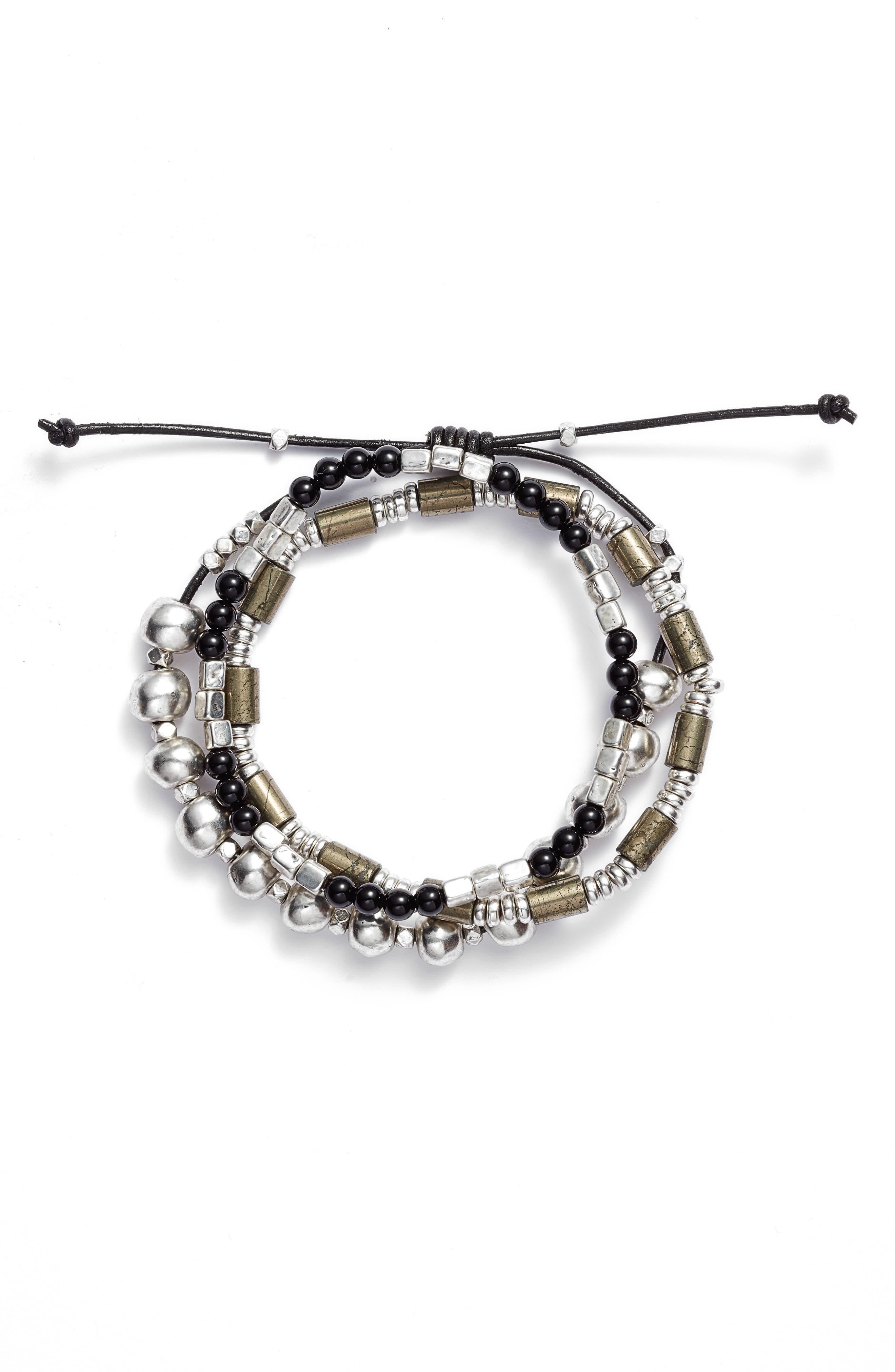 Semiprecious Stone Beaded Bracelet,                         Main,                         color, 041
