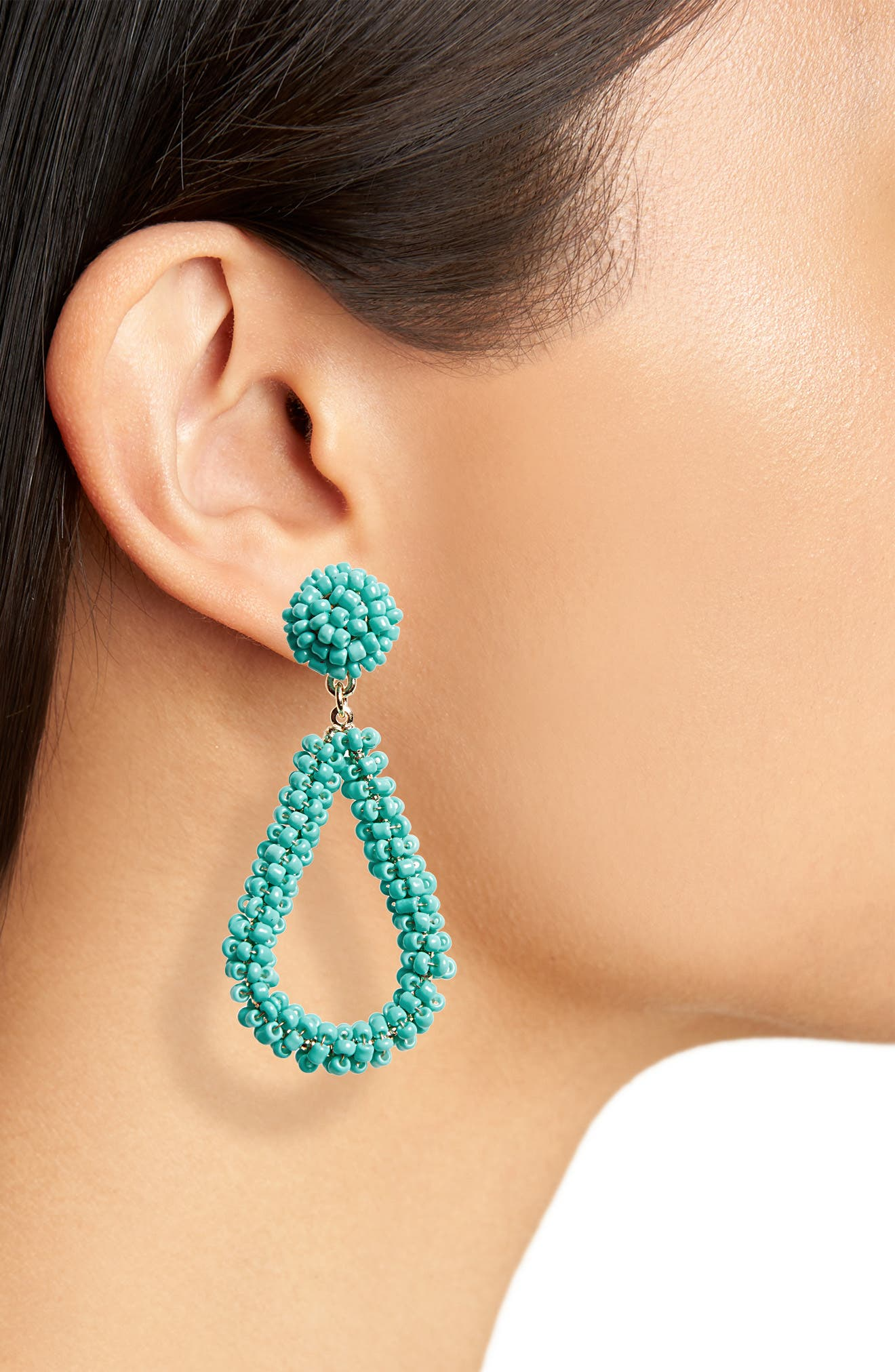 Bead Drop Earrings,                             Alternate thumbnail 9, color,