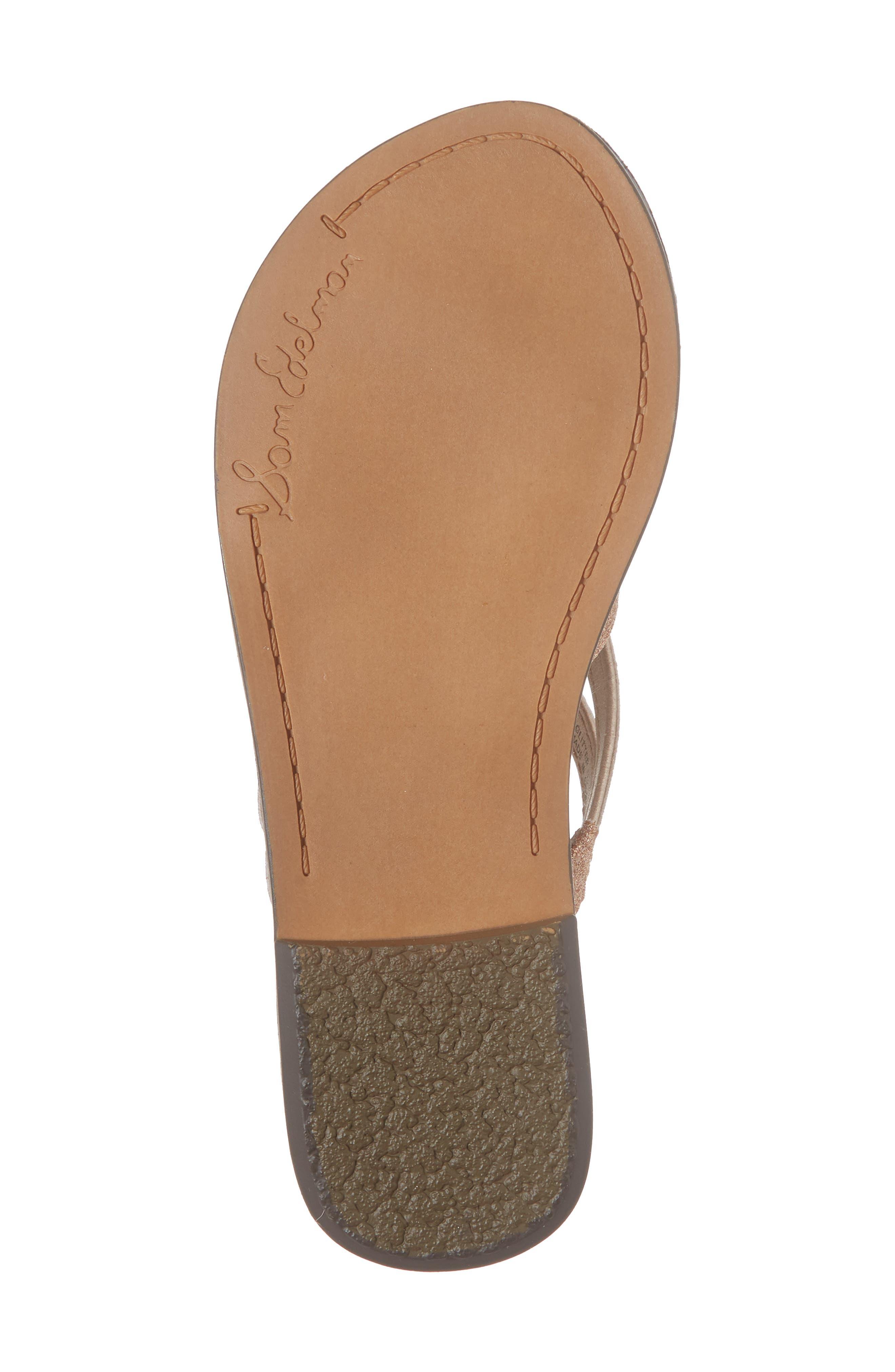 Georgette Glitter Flat Sandal,                             Alternate thumbnail 17, color,