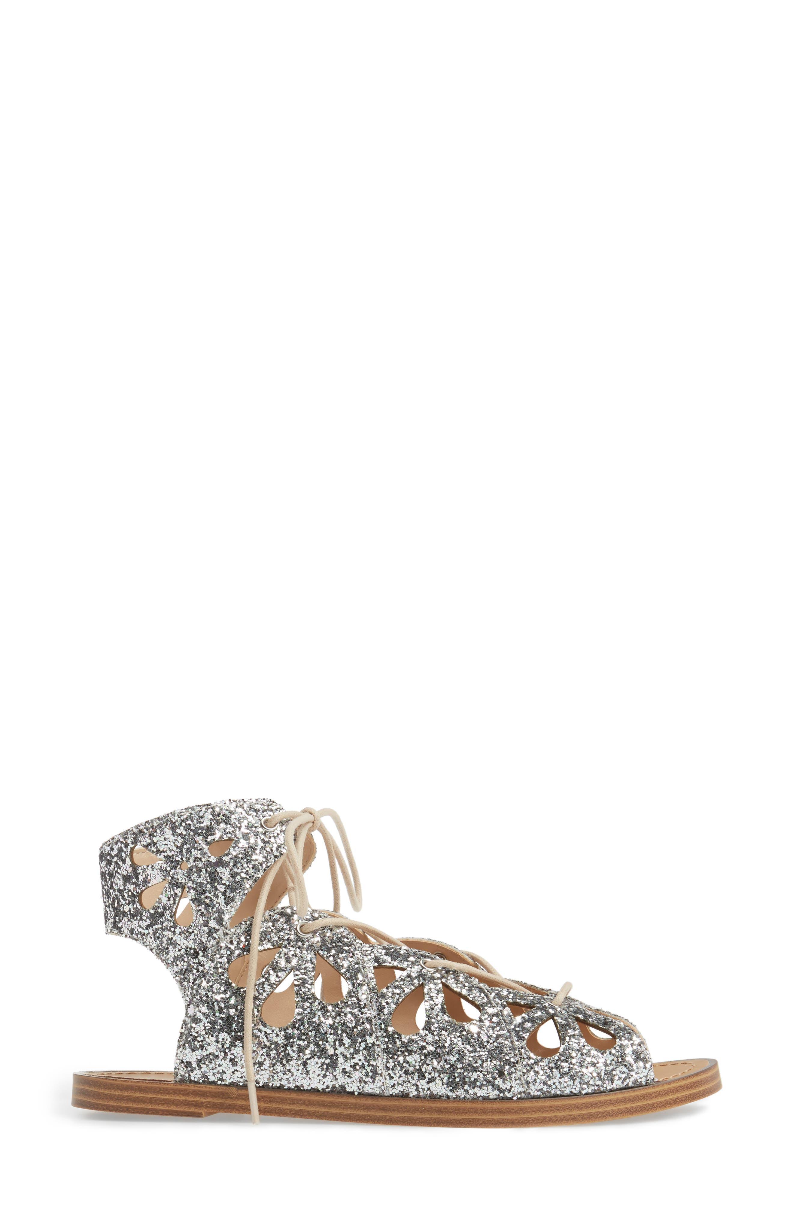 Lylia Glitter Sandal,                             Alternate thumbnail 3, color,                             040