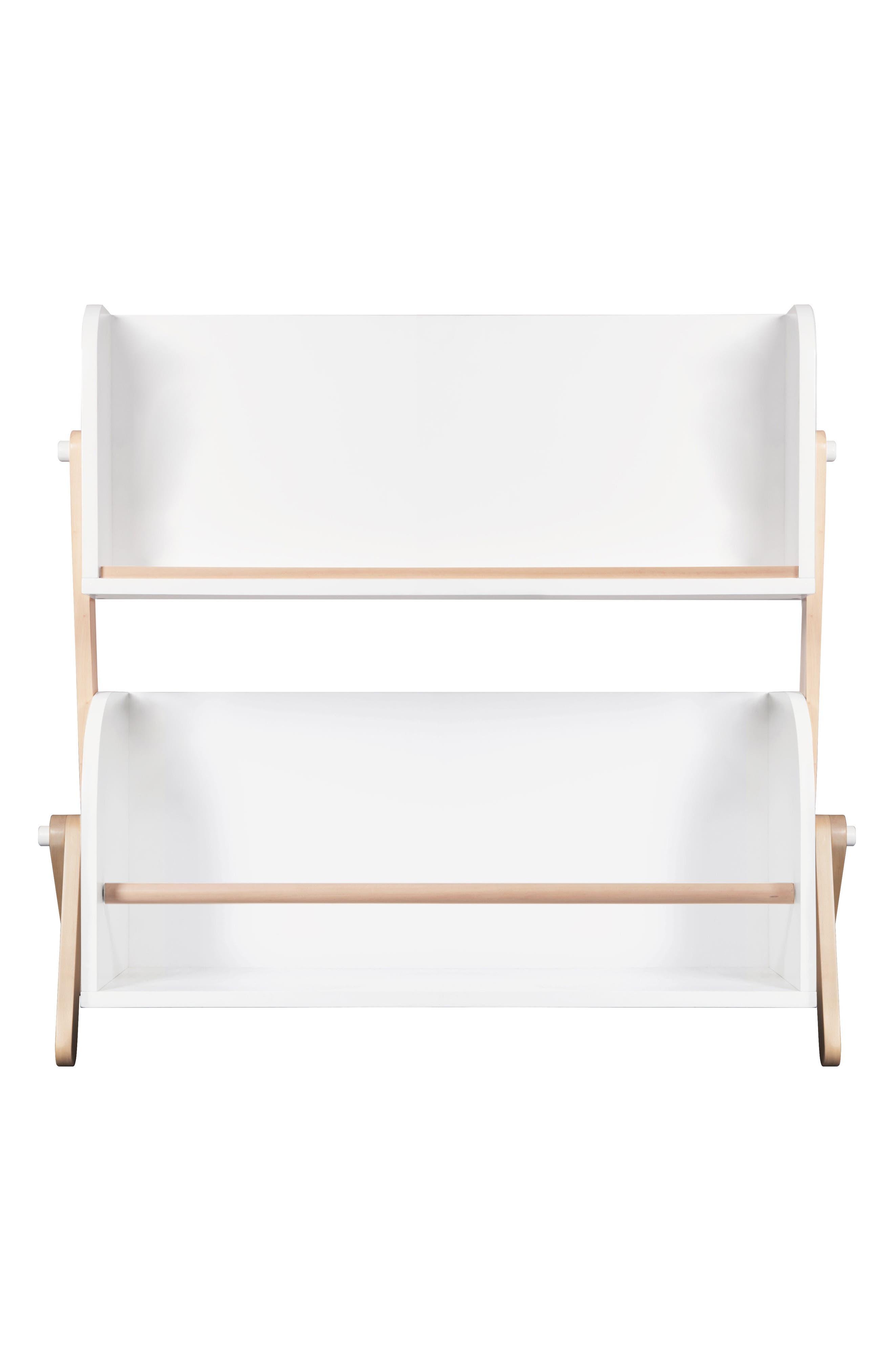Tally Storage Bookshelf,                             Main thumbnail 1, color,                             WHITE/ NATURAL