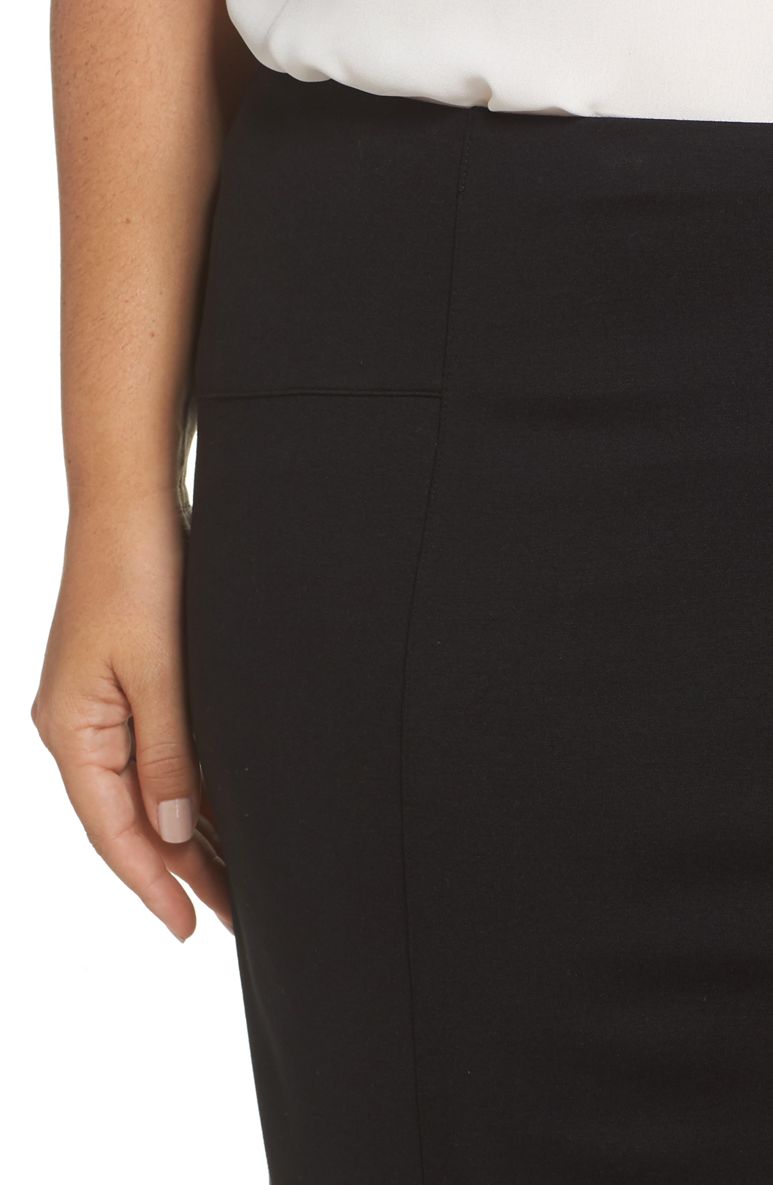 Perfect High Waist Skirt,                             Alternate thumbnail 4, color,                             BLACK