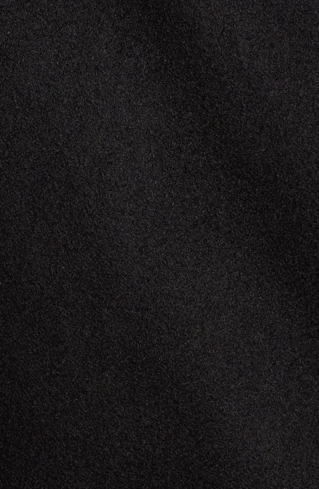 Fencer Melton Wool Maxi Coat,                             Alternate thumbnail 7, color,                             001
