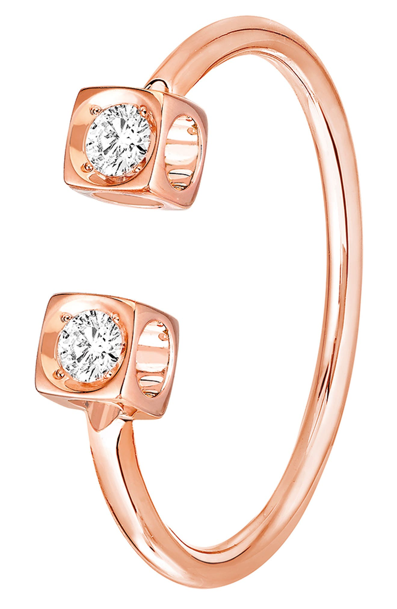 DINH VAN Le Cube Diamant 18K Gold Ring in Rose Gold