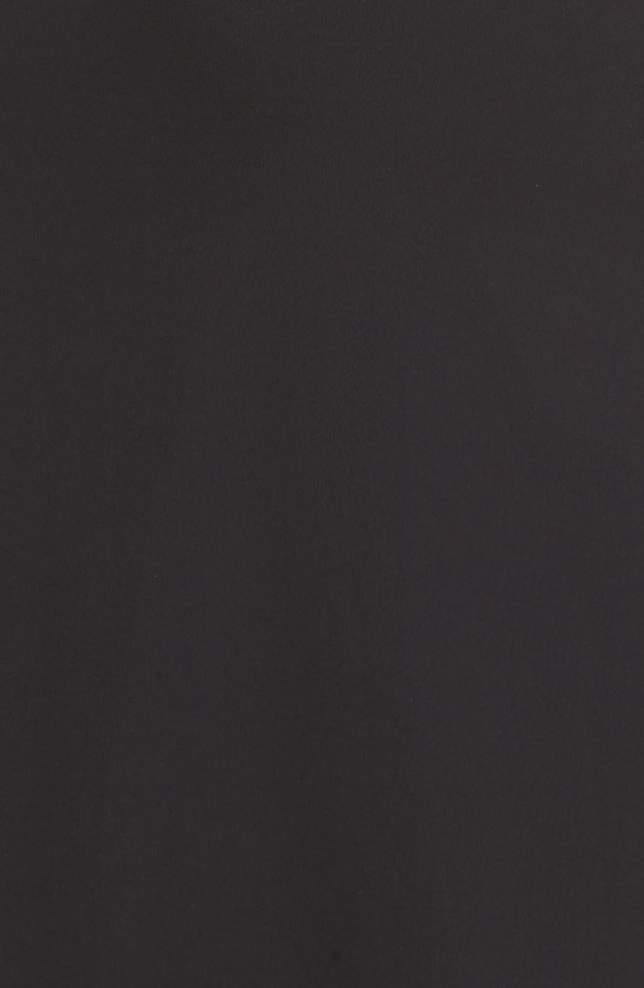 Lace Halter Gown,                             Alternate thumbnail 6, color,                             BLACK