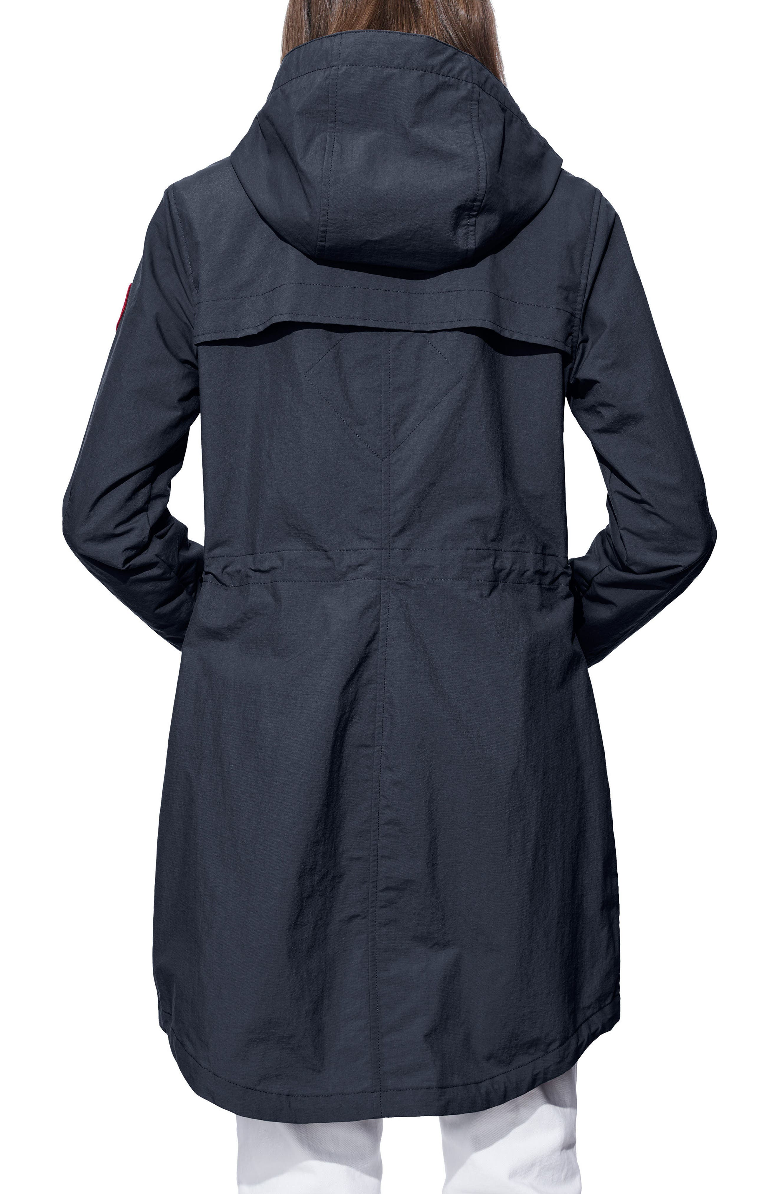 Brossard Hooded Drop Tail Jacket,                             Alternate thumbnail 6, color,