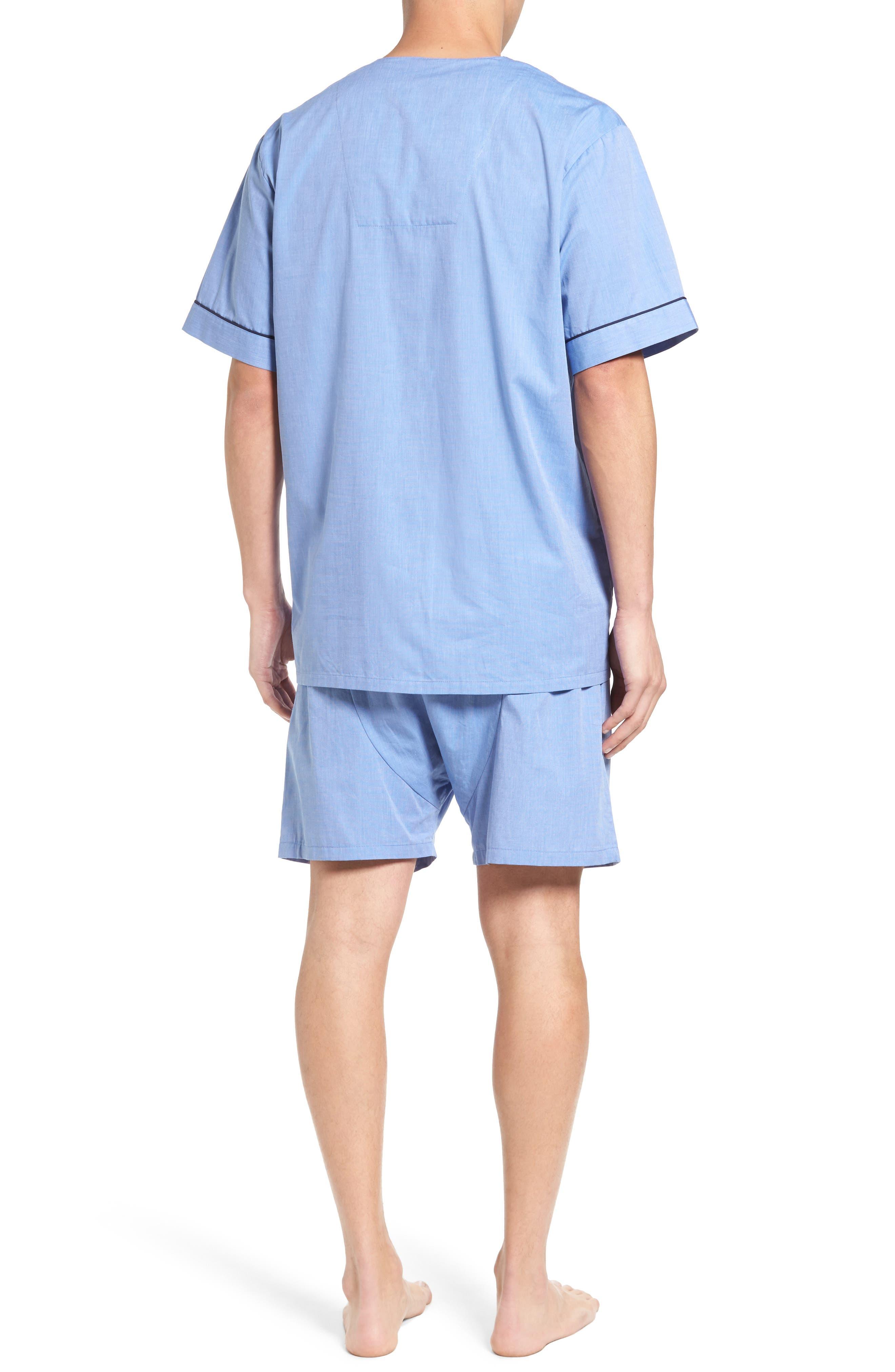 Cotton Short Pajamas,                             Alternate thumbnail 2, color,                             BLUE