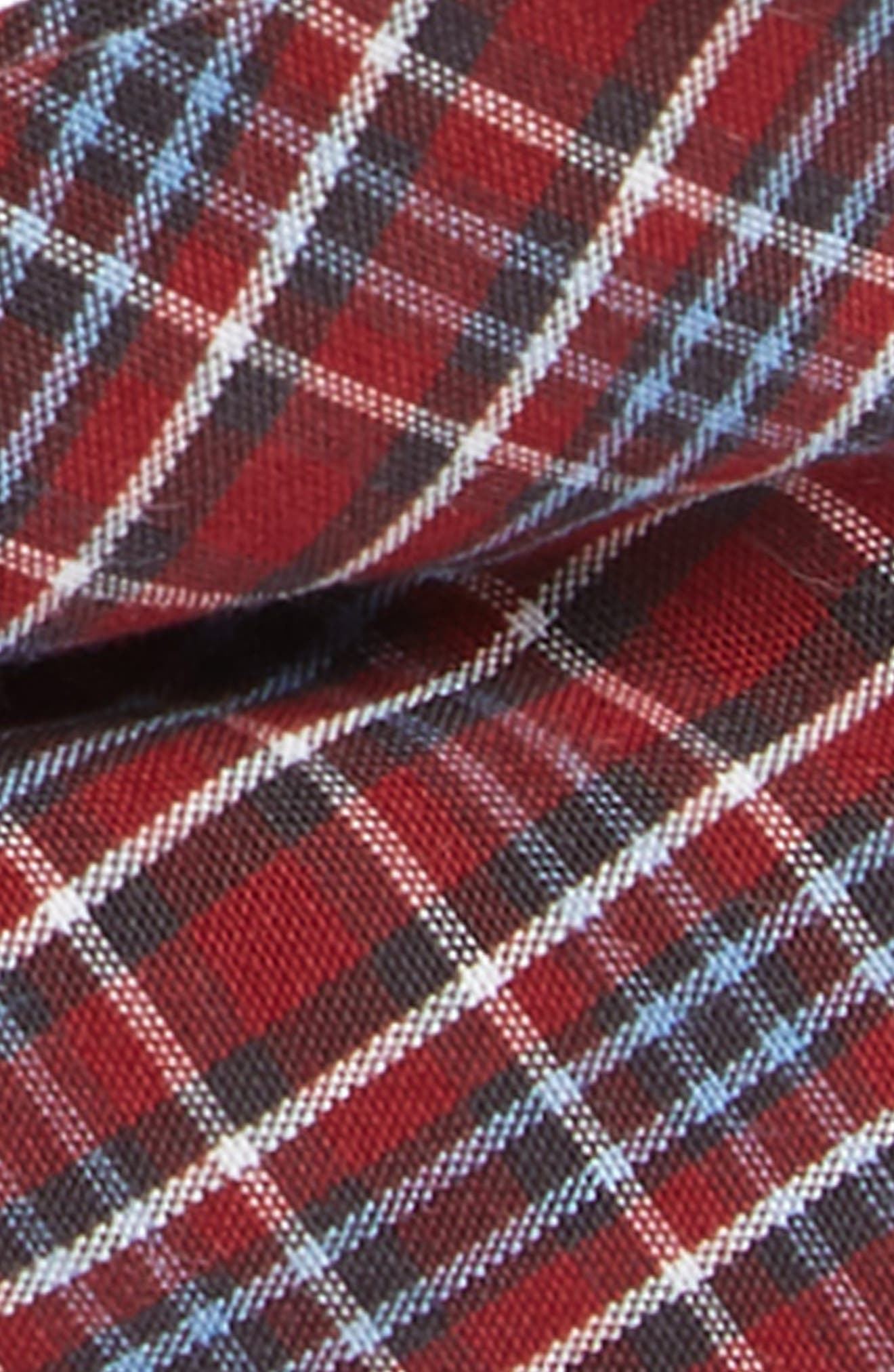 Plaid Cotton Bow Tie,                             Alternate thumbnail 2, color,                             RED