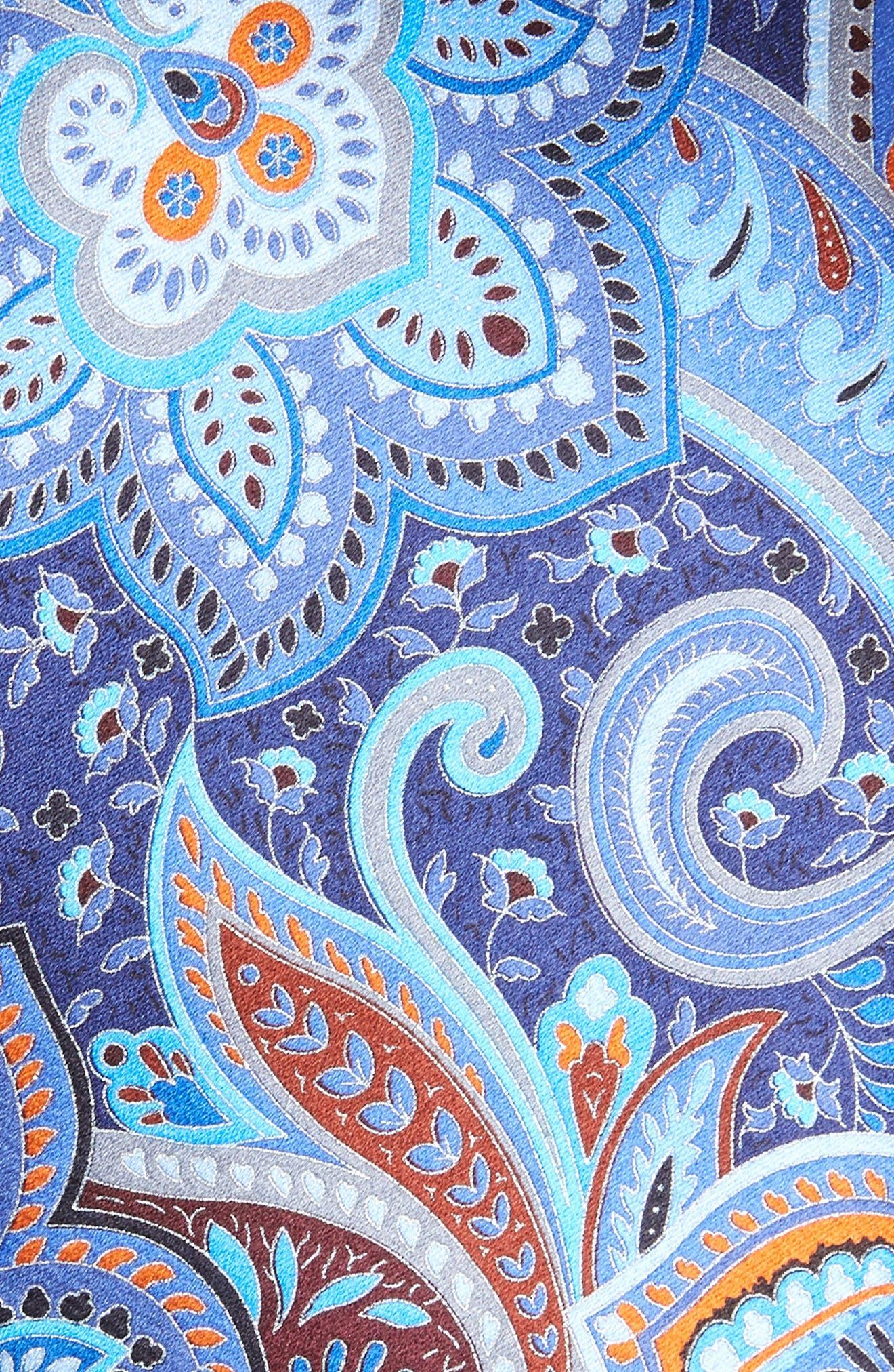 Ermenegildo Zenga Quindici + Quindici Paisley Silk Tie,                             Alternate thumbnail 2, color,                             BLUE