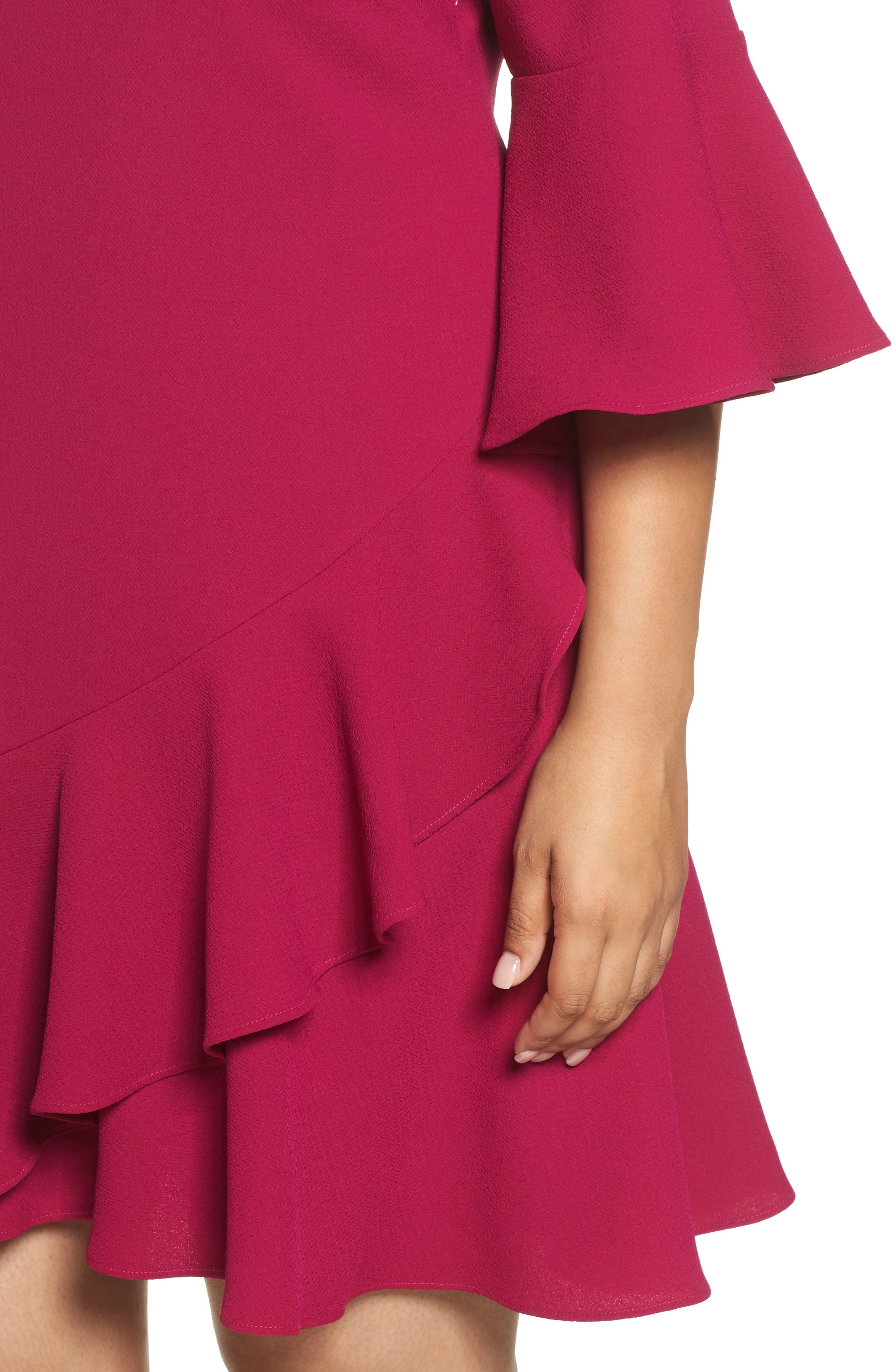Ruffled Flounce A-Line Dress,                             Alternate thumbnail 4, color,                             678