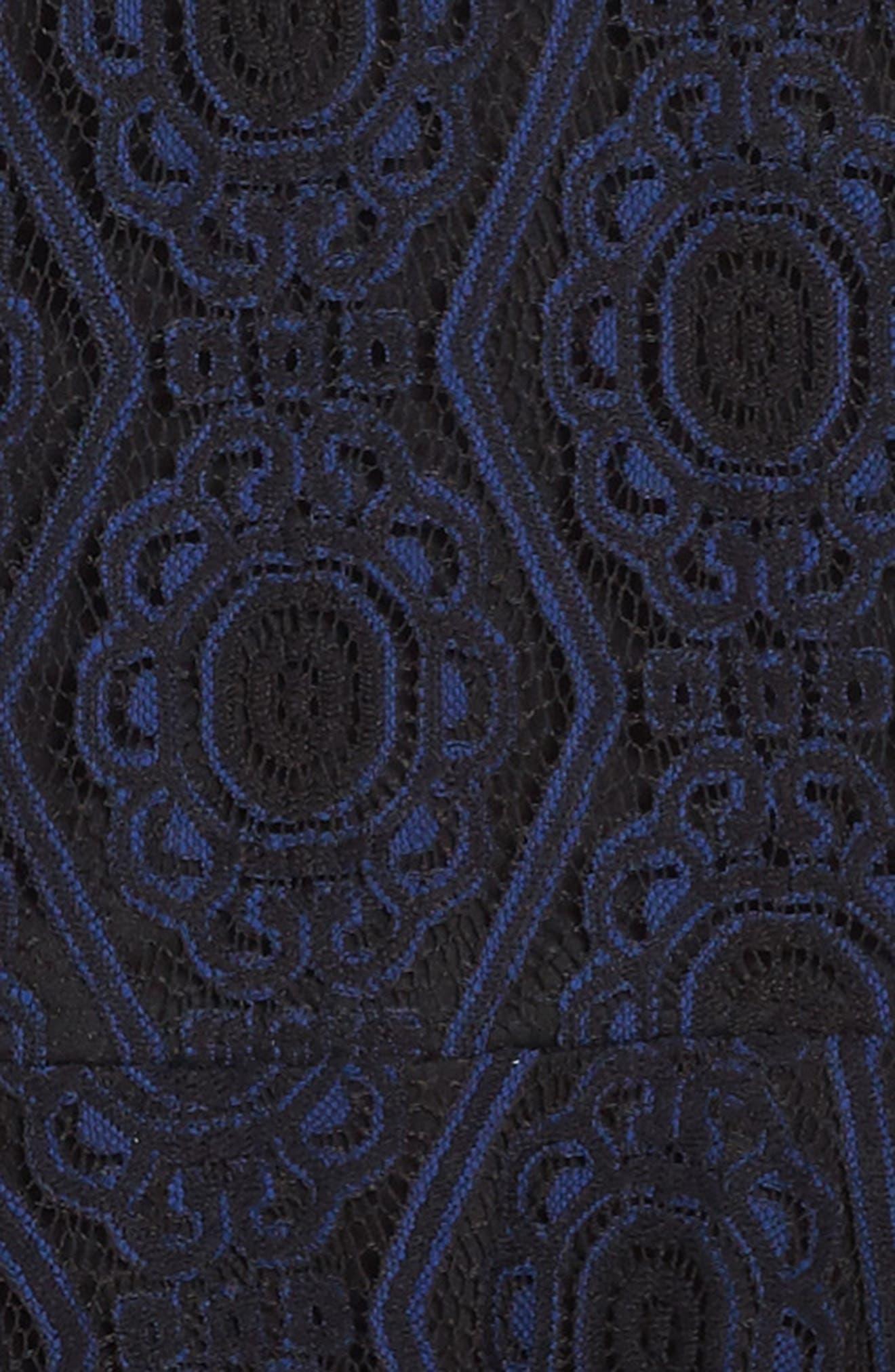 Lace Skater Dress,                             Alternate thumbnail 3, color,                             410