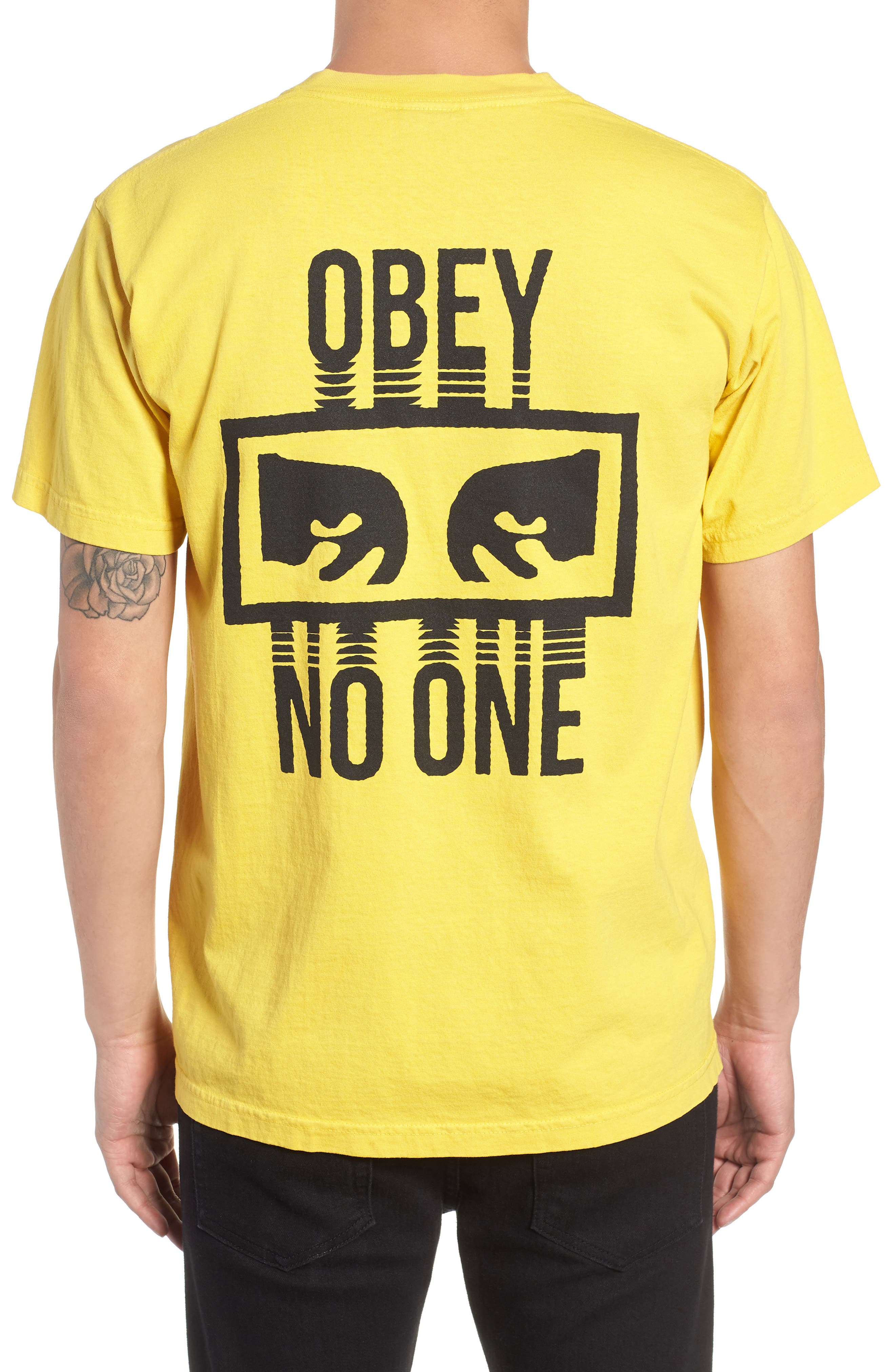 No One Box T-Shirt,                             Alternate thumbnail 2, color,                             SPECTRA YELLOW