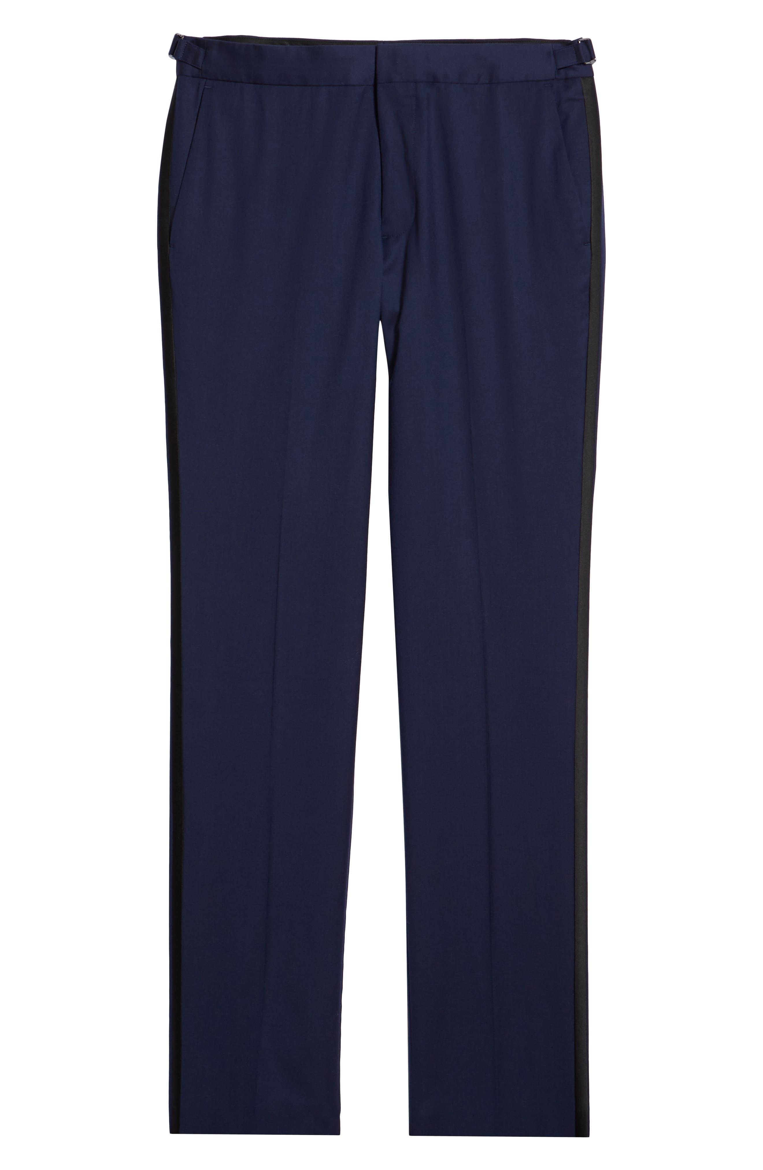 Capstone Slim Fit Tuxedo Trousers,                             Alternate thumbnail 6, color,                             NAVY