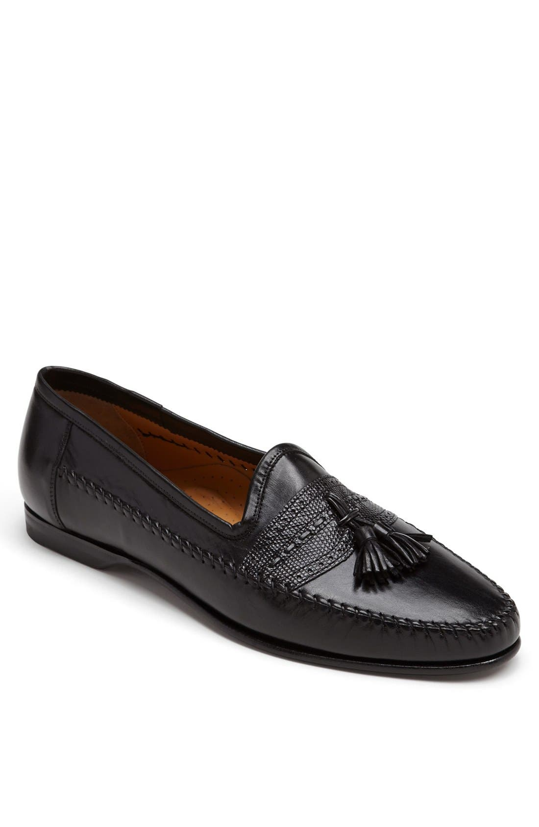'Hammon' Loafer,                             Main thumbnail 1, color,                             BLK