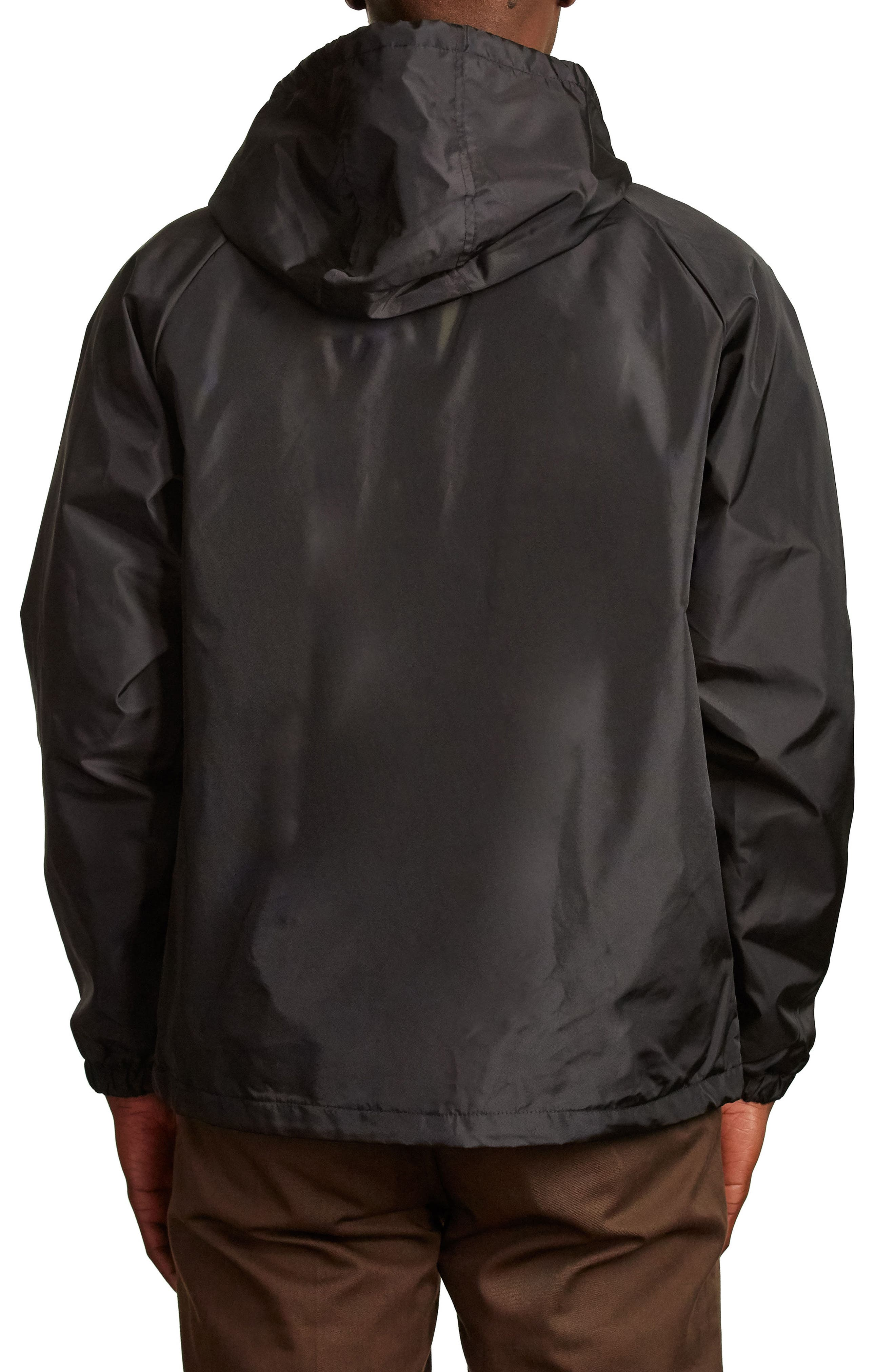 Claxton Water Repellent Hooded Windbreaker,                             Alternate thumbnail 2, color,                             001