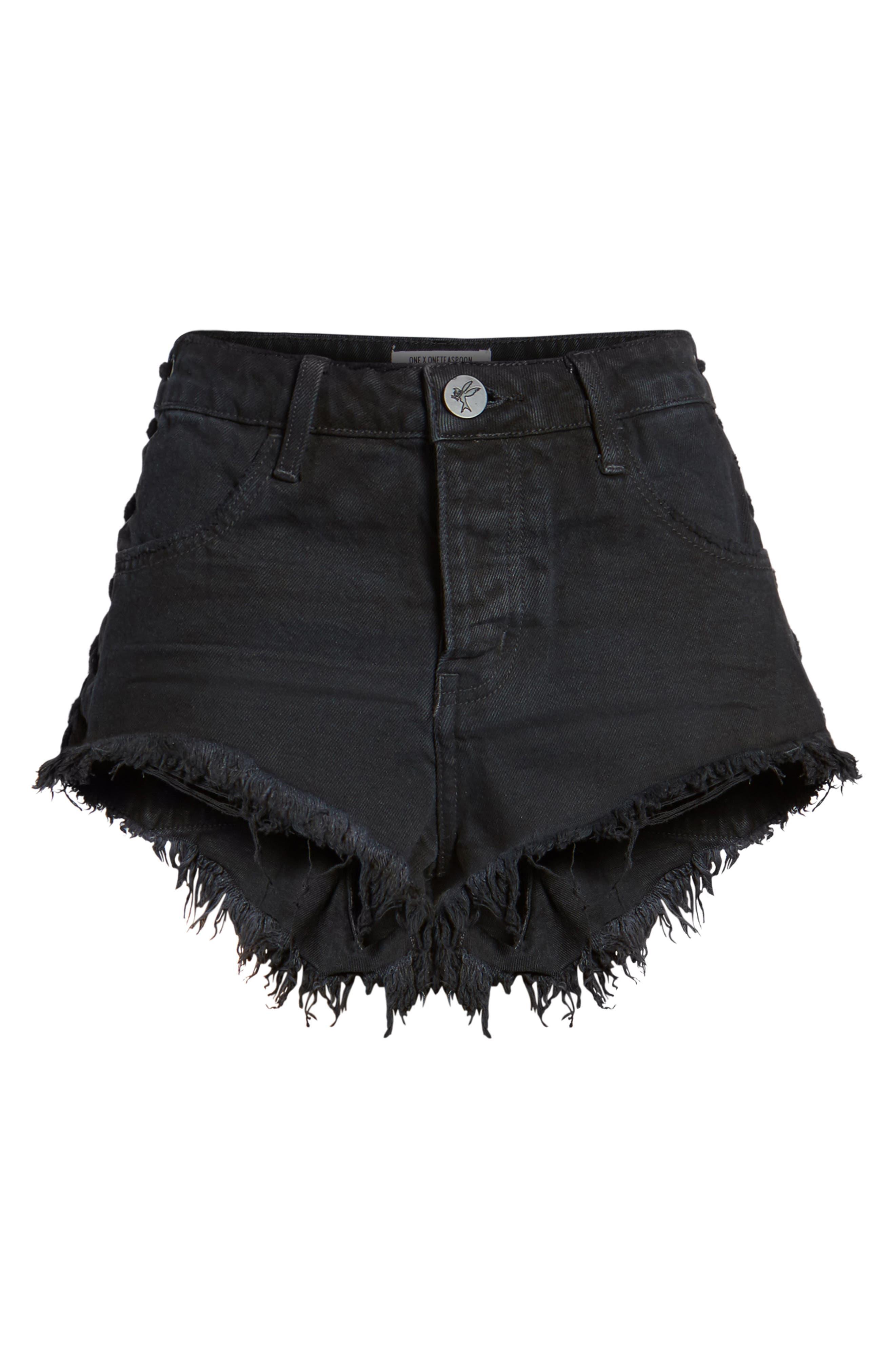 Brandos Relaxed Fit Cutoff Denim Shorts,                             Alternate thumbnail 6, color,
