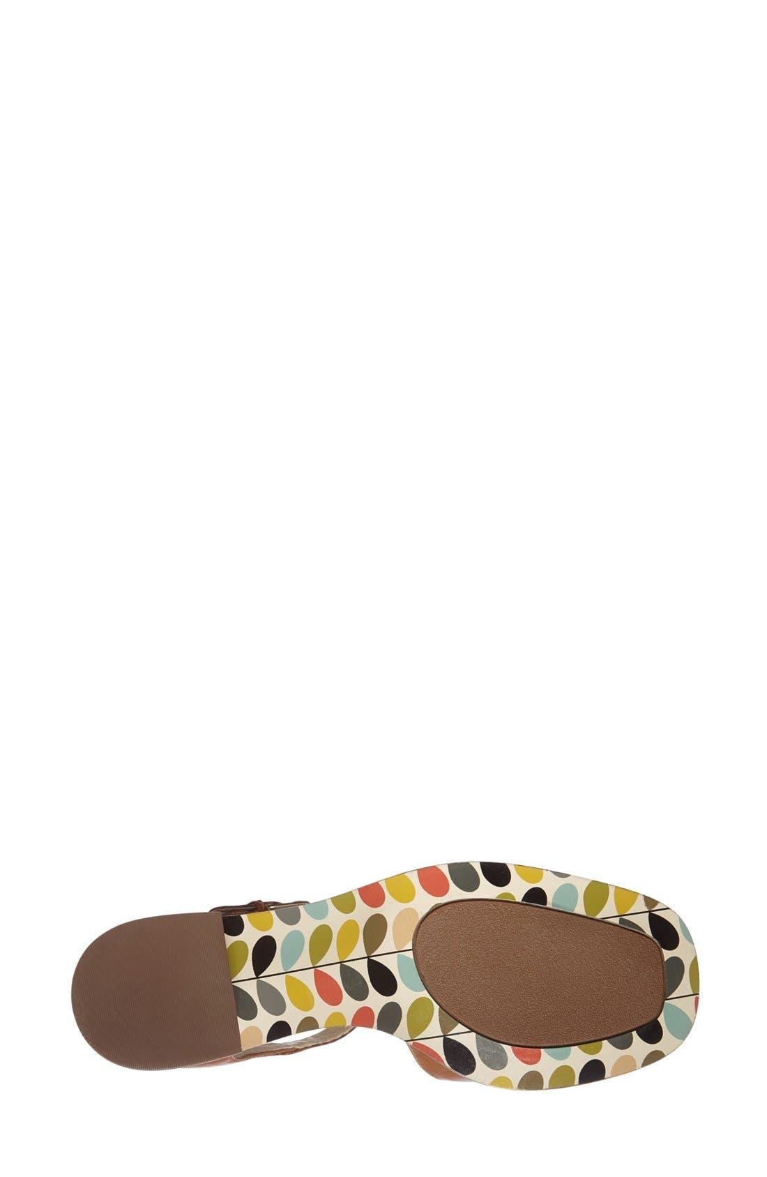 Clarks<sup>®</sup> x Orla Kiely 'Bibi' Leather T-Strap Sandal,                             Alternate thumbnail 3, color,                             200