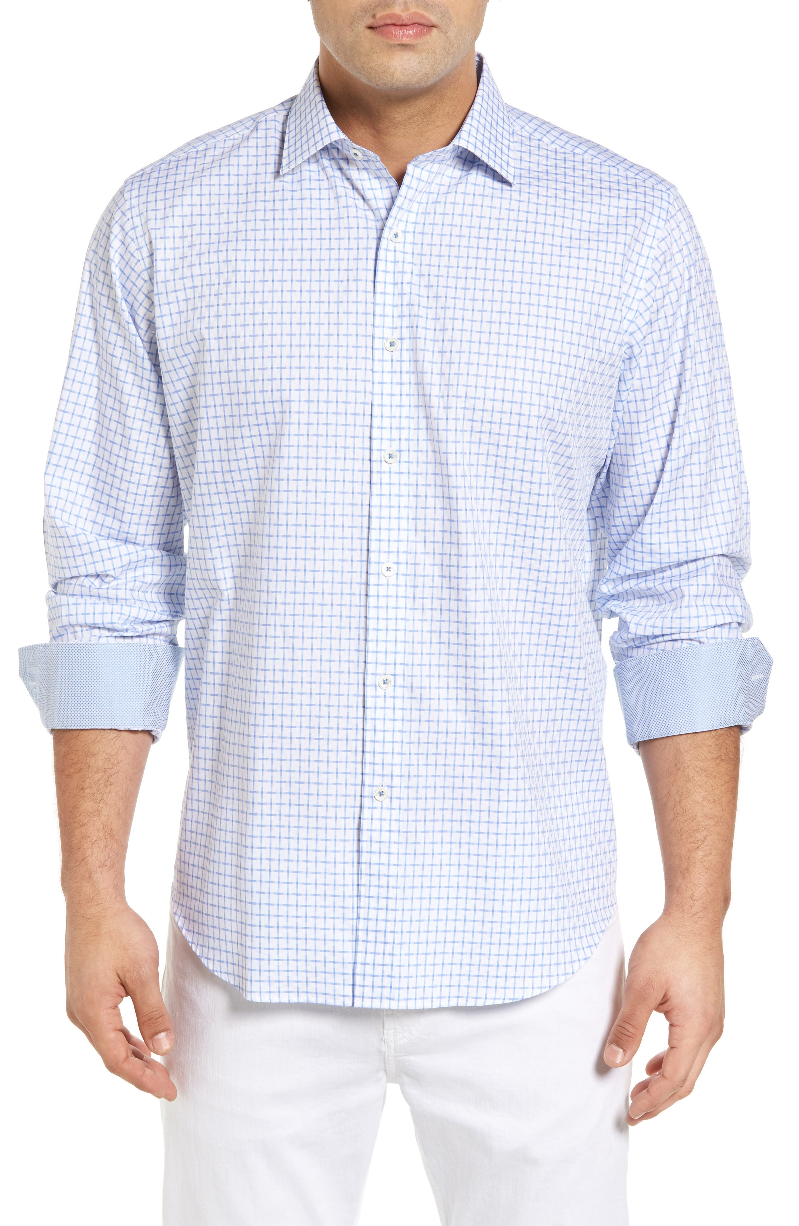 Shaped Fit Sport Shirt,                         Main,                         color, 422