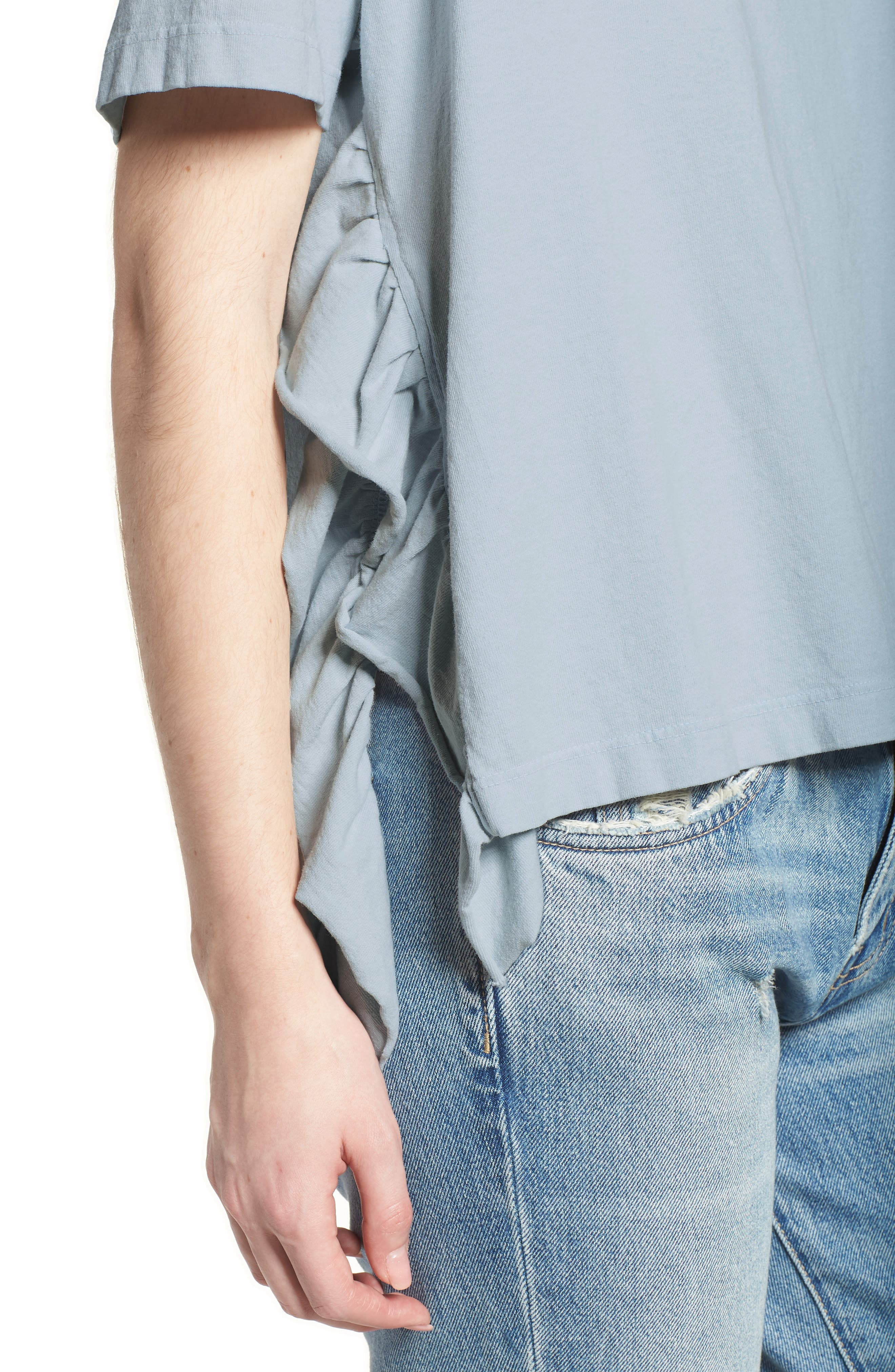 The Side Slit Ruffle Tee,                             Alternate thumbnail 4, color,                             459
