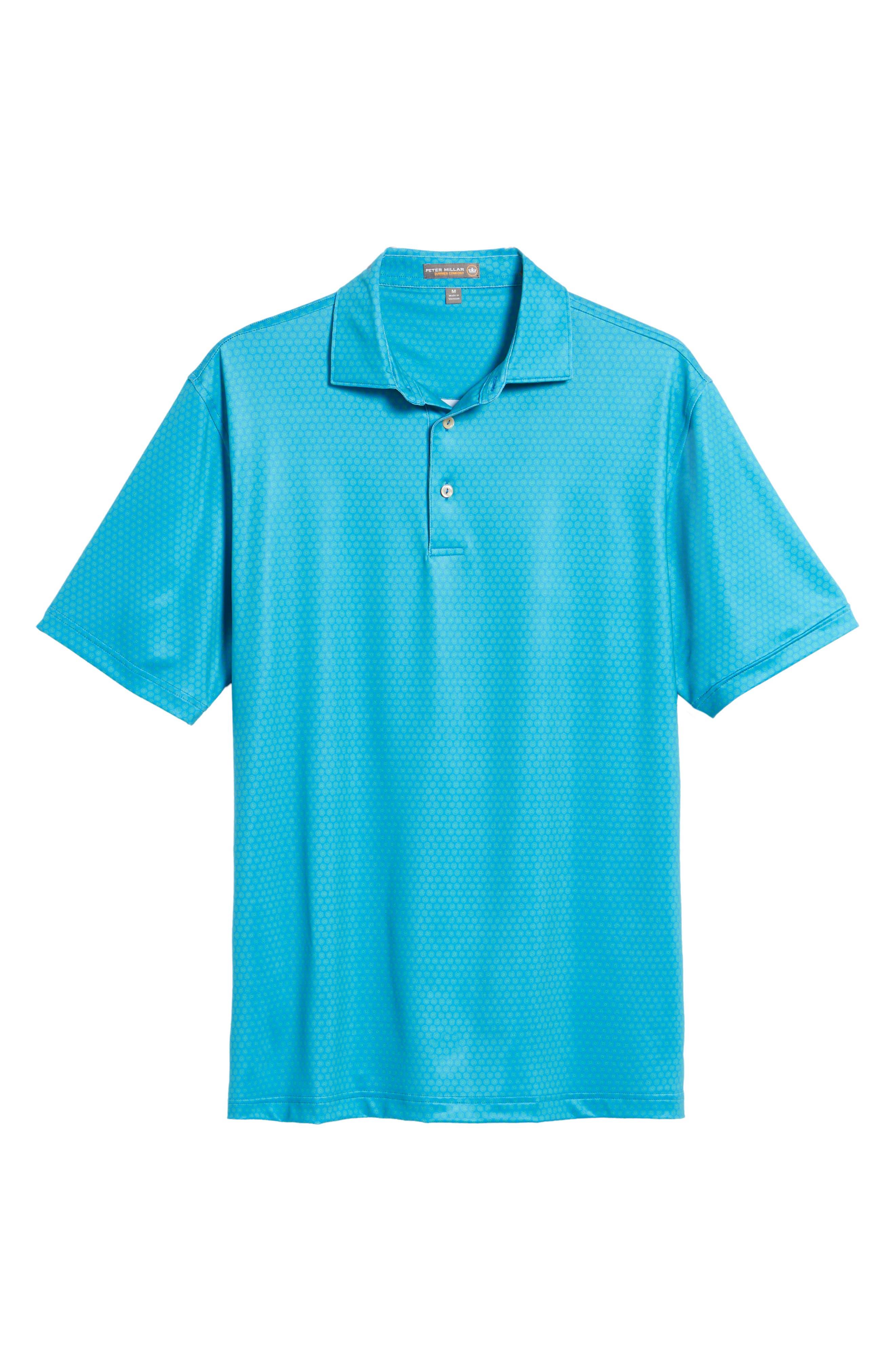 Sean Mata Sunburst Stretch Jersey Polo,                             Alternate thumbnail 6, color,                             403