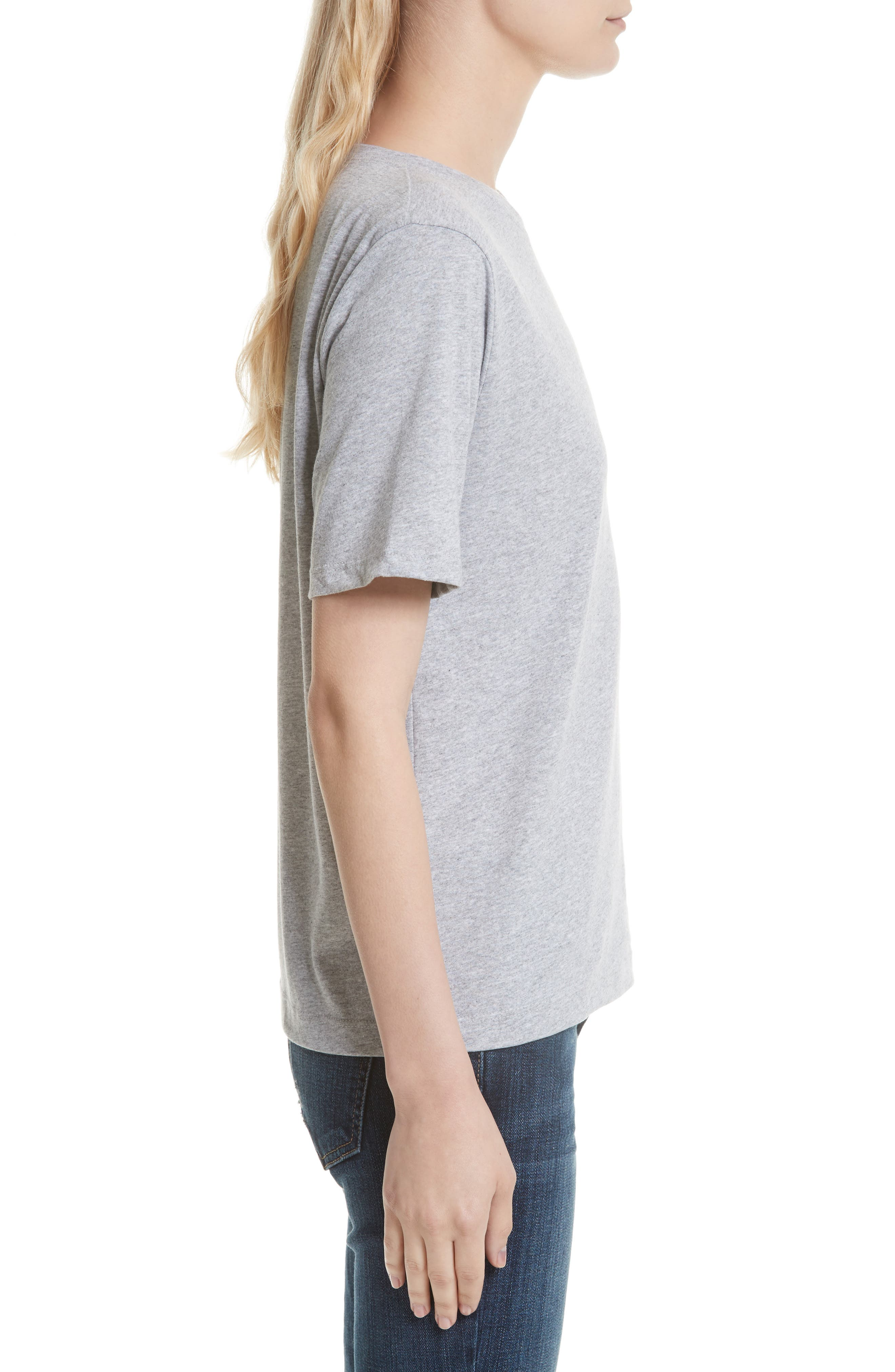 The Modern Cotton Tee,                             Alternate thumbnail 3, color,                             HEATHER GREY